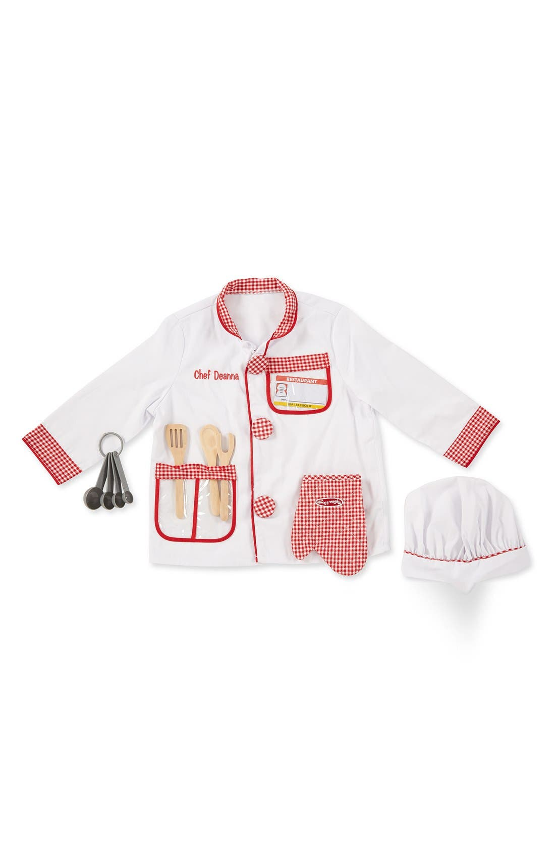 'Chef' Personalized Costume Set,                             Main thumbnail 1, color,                             Red