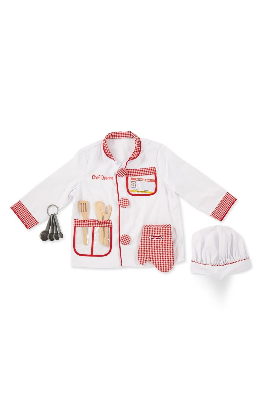 Melissa & Doug 'Chef' Personalized Costume Set (Toddler)