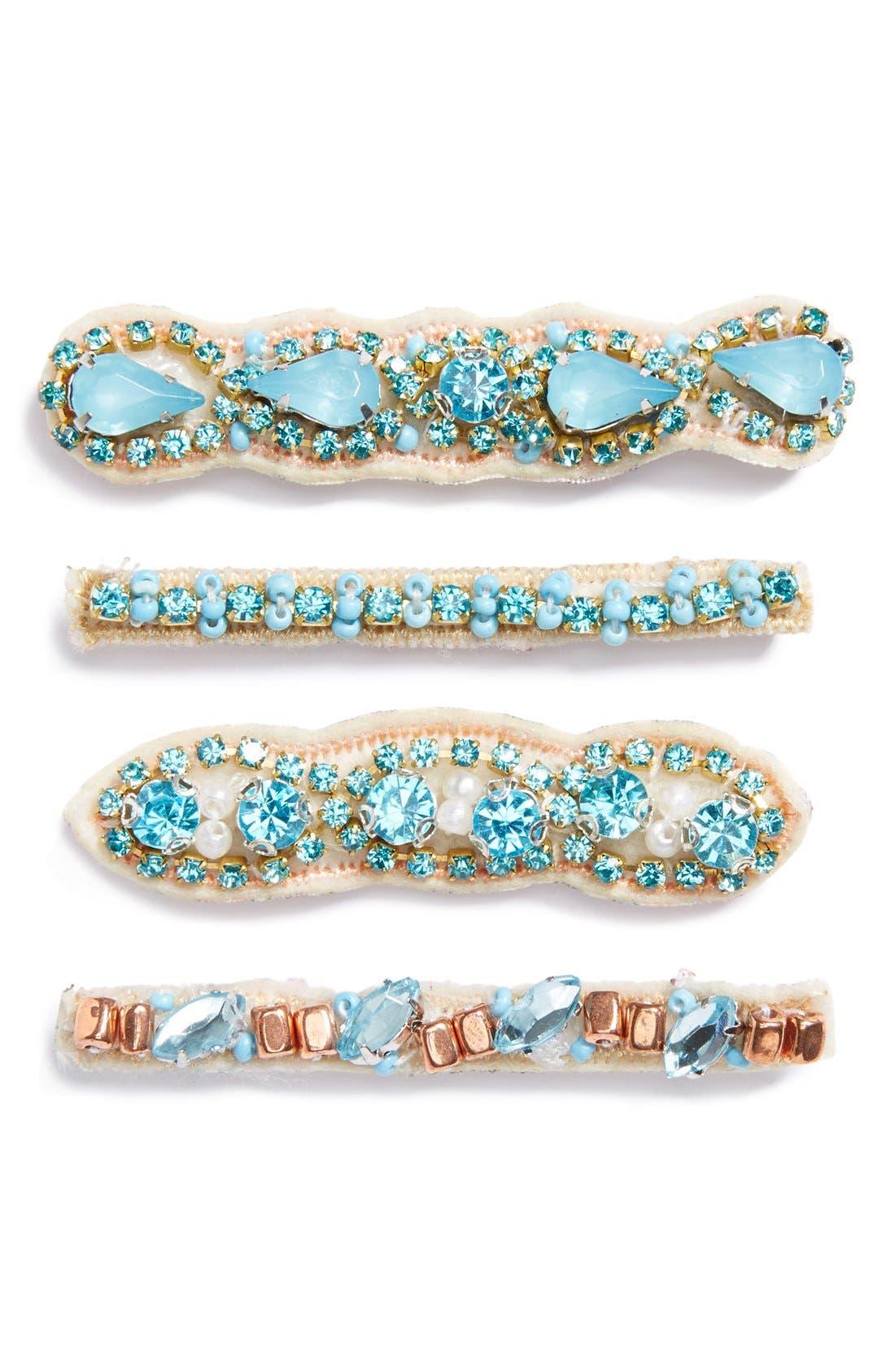Main Image - Tasha Jeweled Bobby Pins (4-Pack)