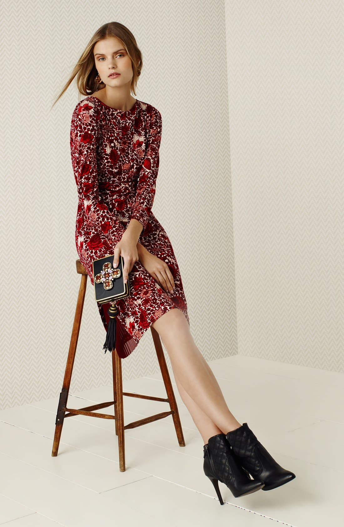 Alternate Image 5  - Tory Burch 'Ria' Floral Print Shift Dress