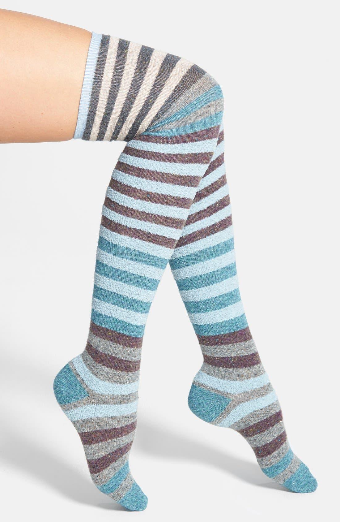 Alternate Image 1 Selected - LEMON 'Playground' Stripe Over The Knee Socks