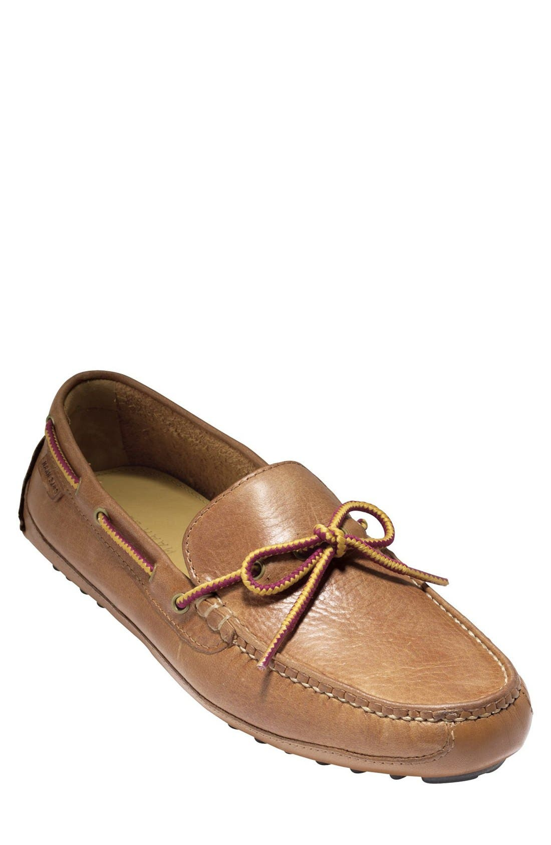 'Grant Canoe Camp' Driving Moccasin,                             Main thumbnail 1, color,                             British Tan