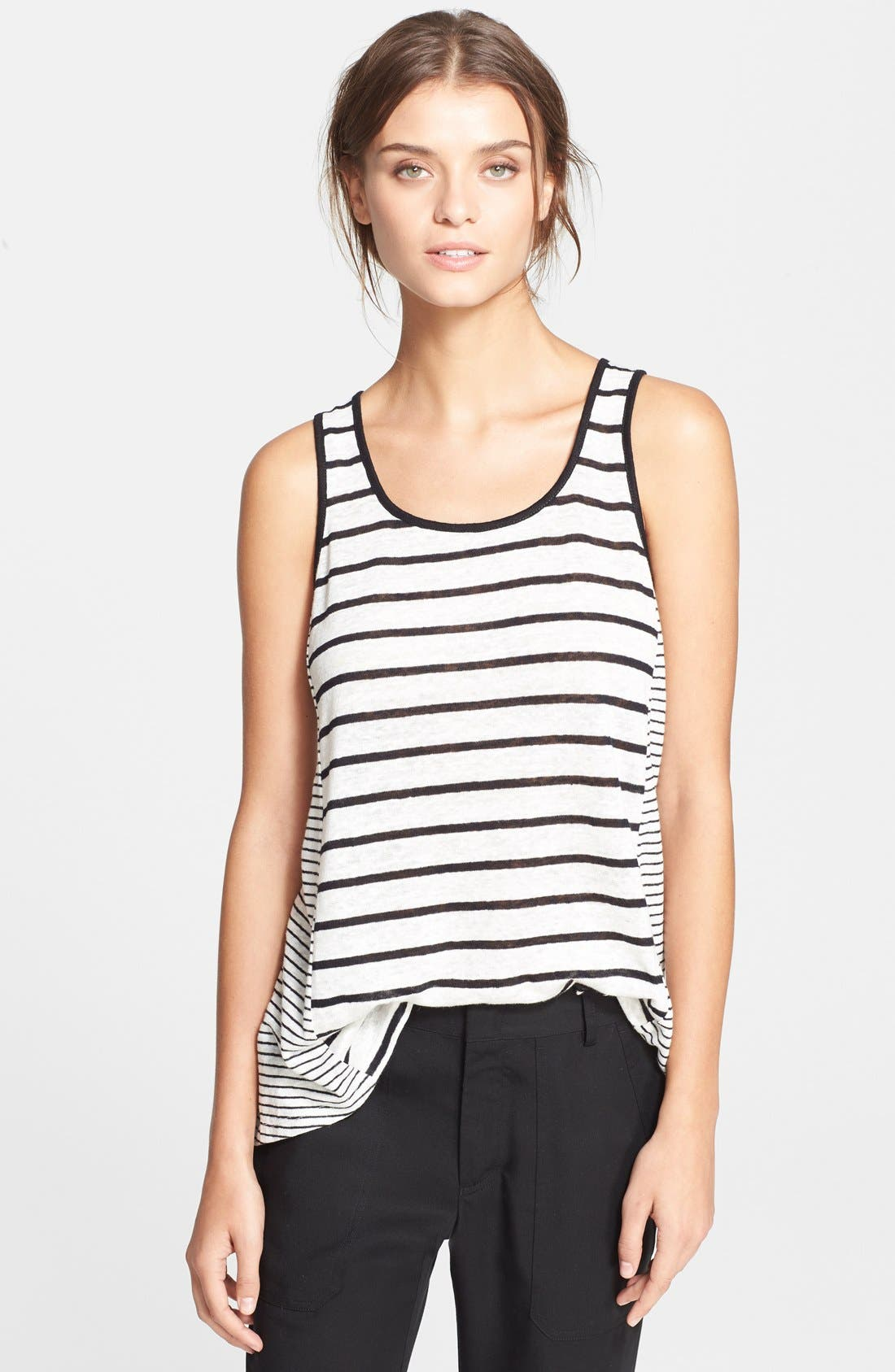 Alternate Image 1 Selected - Vince Mixed Stripe Tank