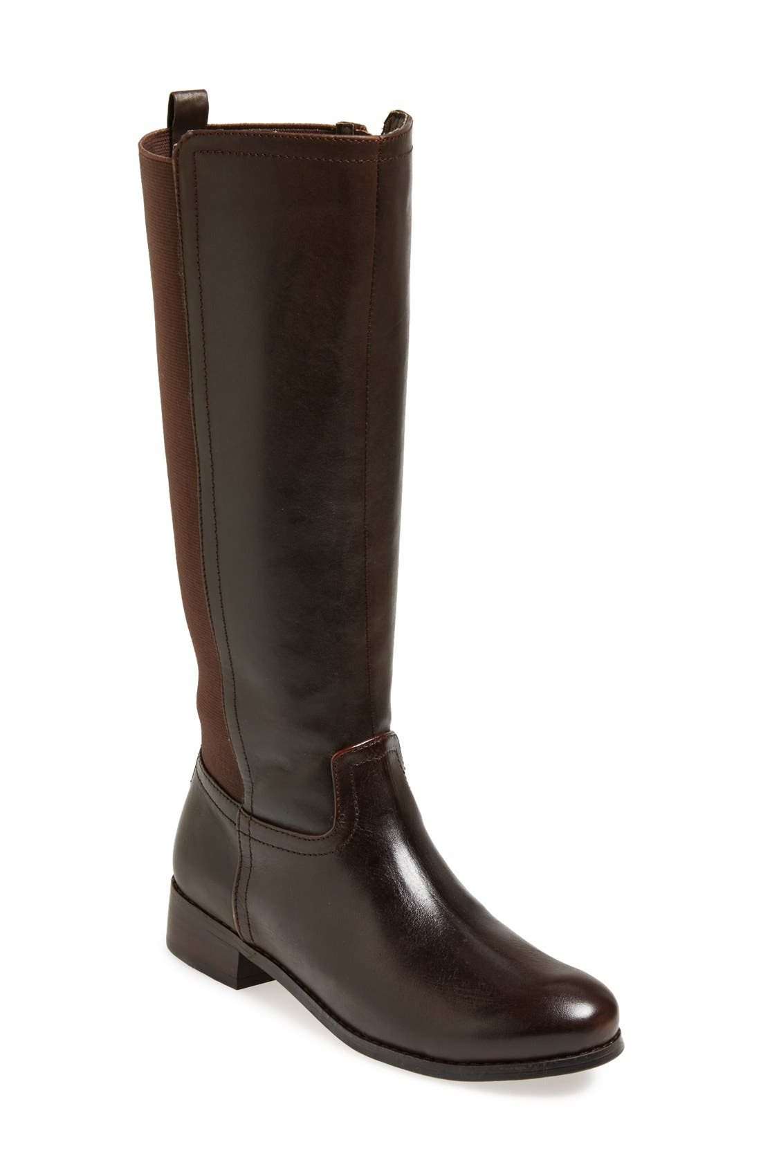 Main Image - Trotters 'Signature Lucia' Leather Riding Boot (Women)