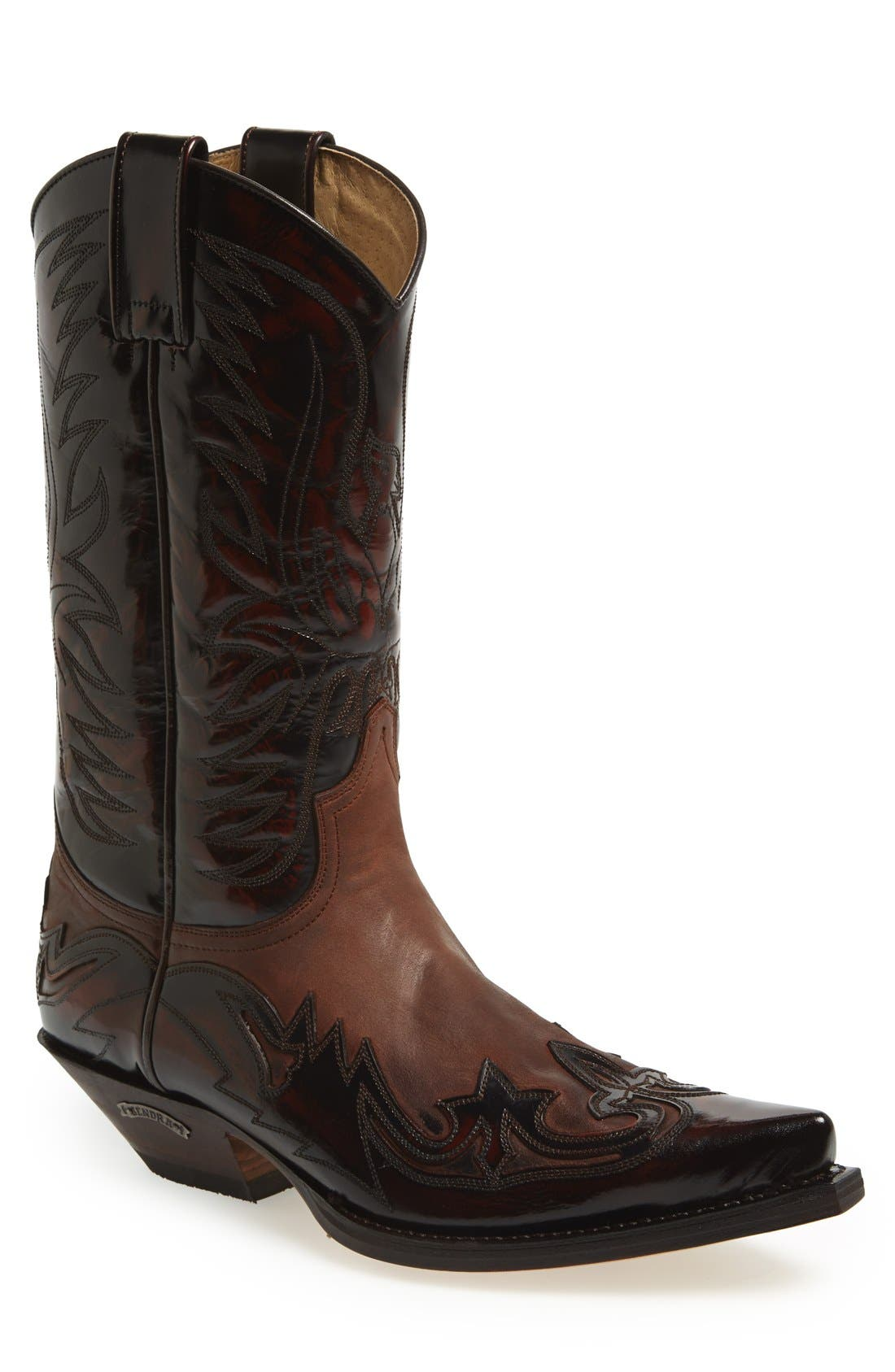 'Duke' Western Boot,                             Main thumbnail 1, color,                             Brown