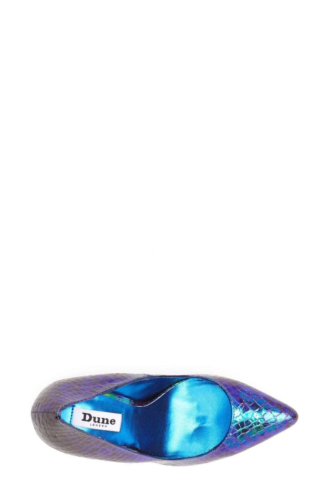 Alternate Image 3  - Dune London 'Burst' Pointy Toe Pump (Women)