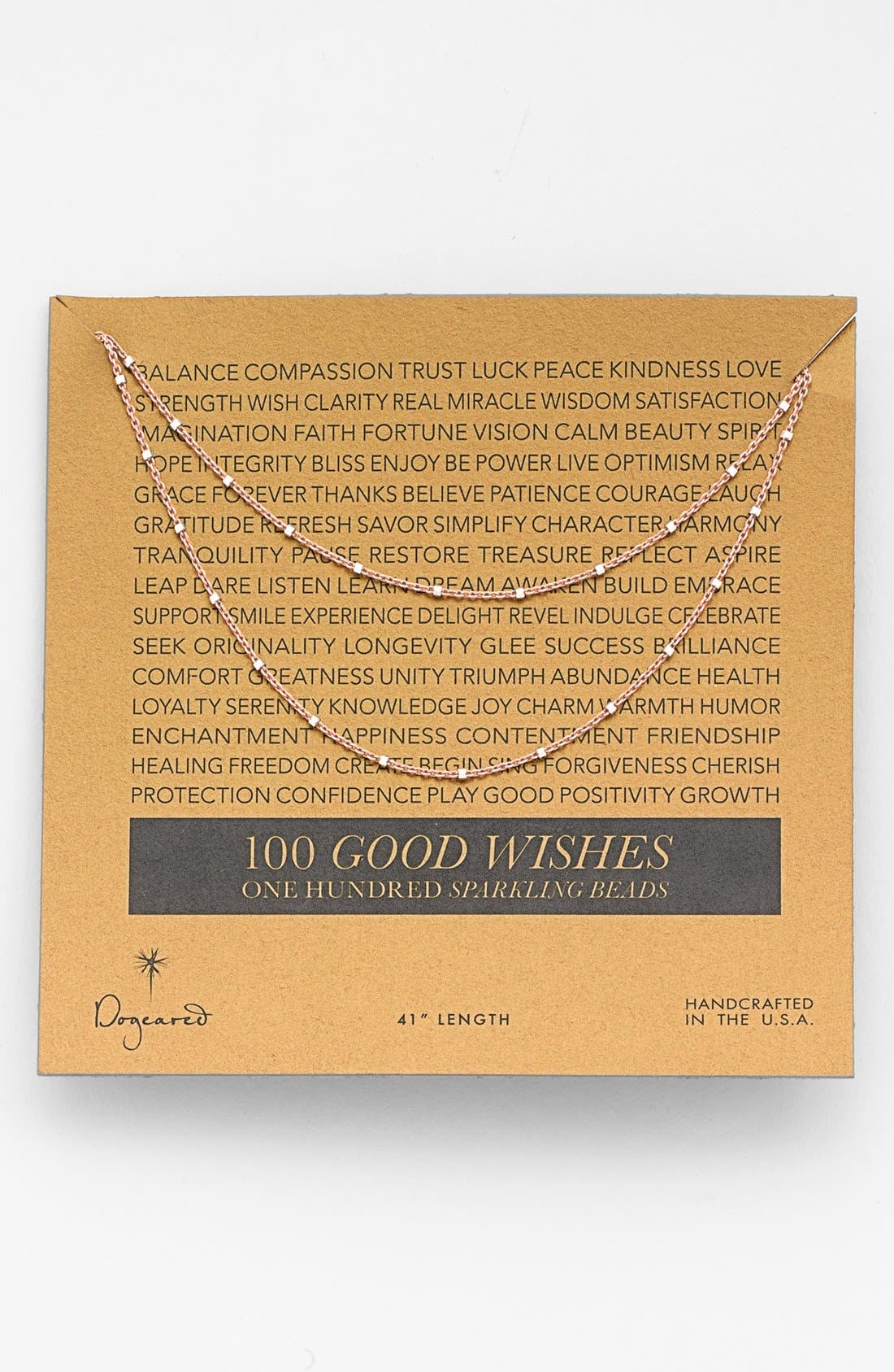 Main Image - Dogeared '100 Good Wishes' Boxed Bead Necklace