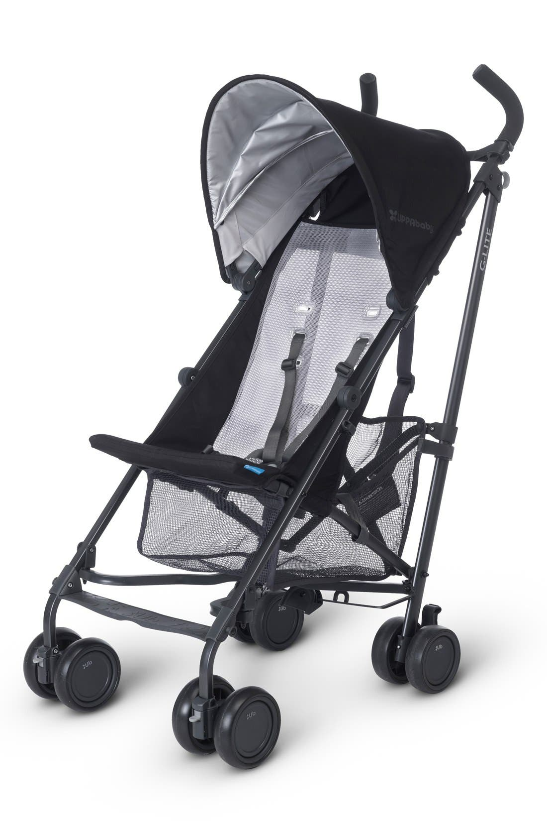 G-LITE - Black Frame Stroller,                         Main,                         color, Jake Black/ Carbon