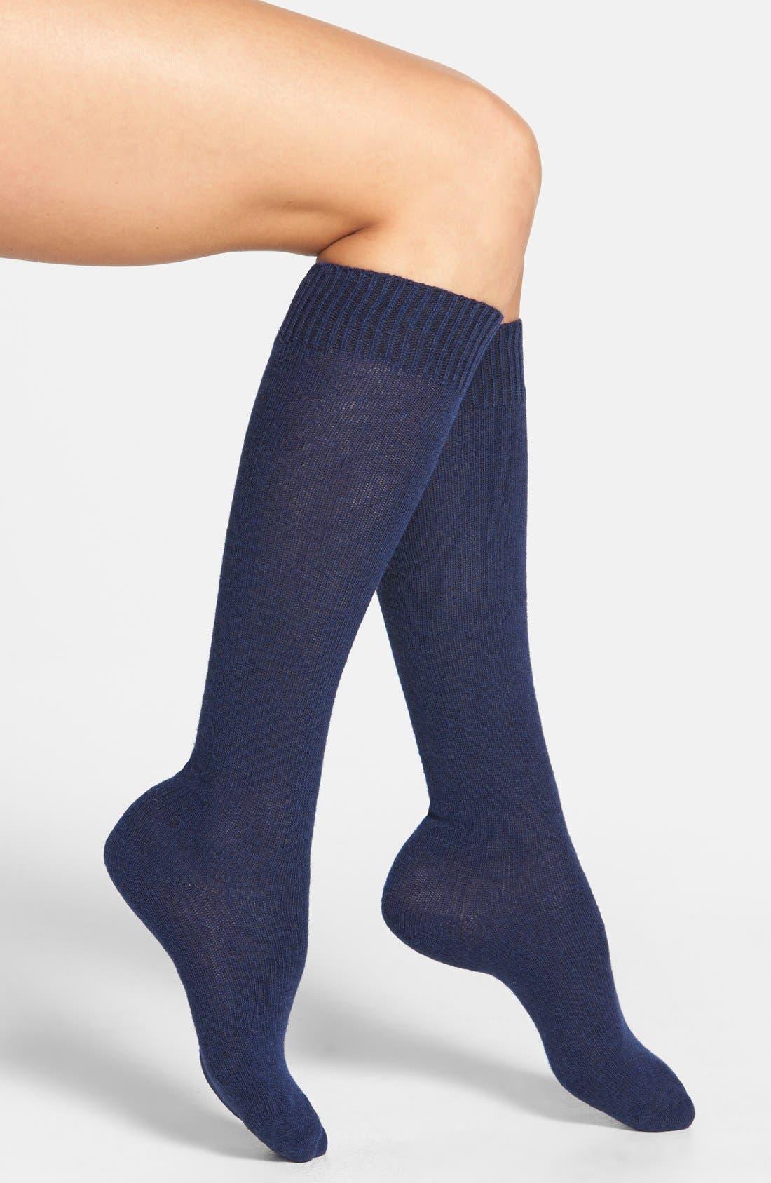 Knee High Socks,                         Main,                         color, Navy