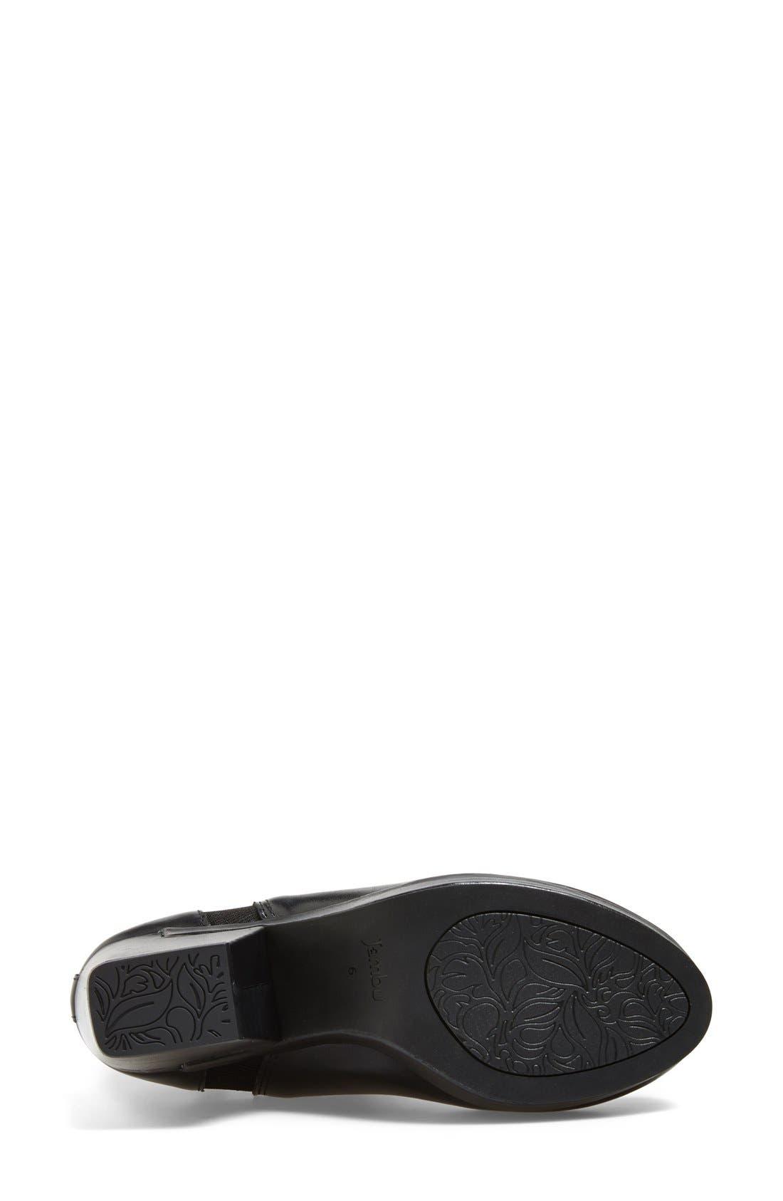 'Summit' Leather Bootie,                             Alternate thumbnail 4, color,                             Black