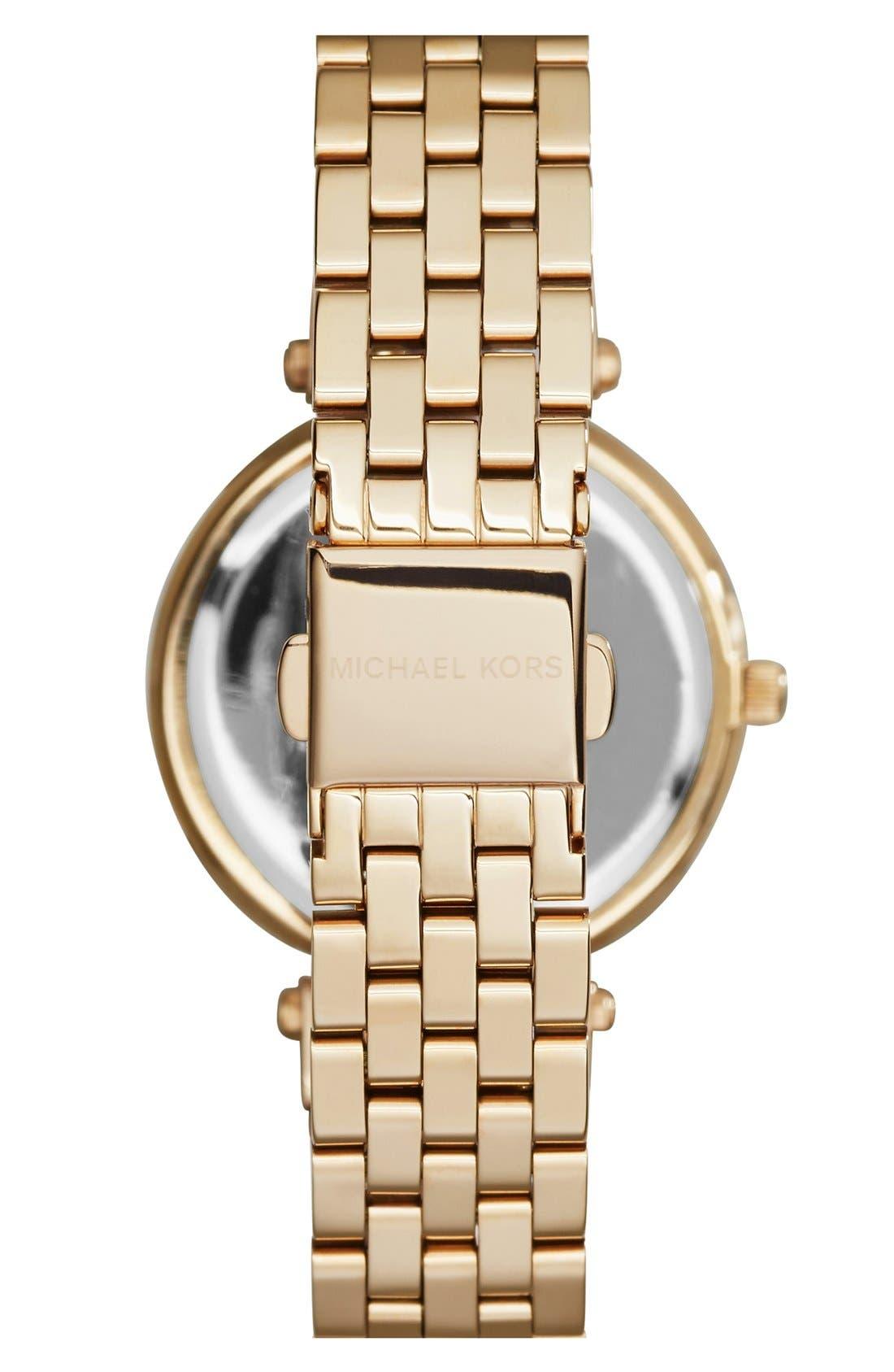 'Mini Darci' Round Bracelet Watch, 33mm,                             Alternate thumbnail 2, color,                             Gold