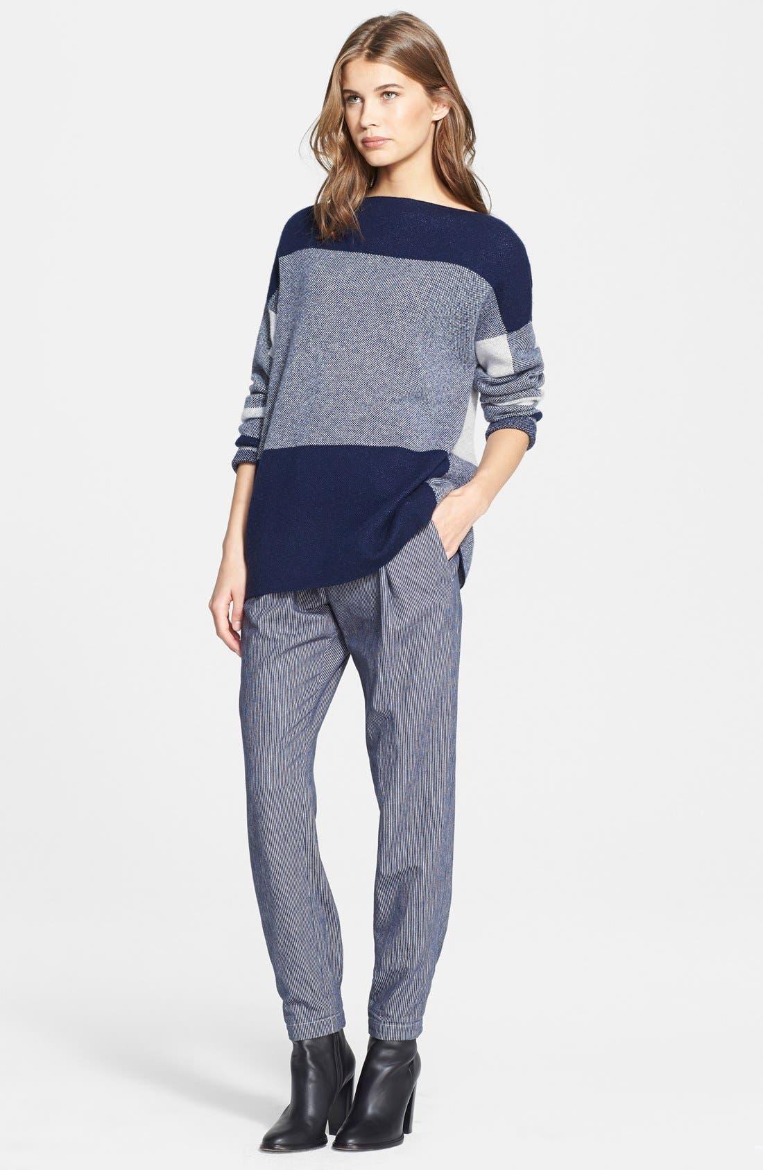 Alternate Image 4  - Vince Intarsia Colorblock Sweater