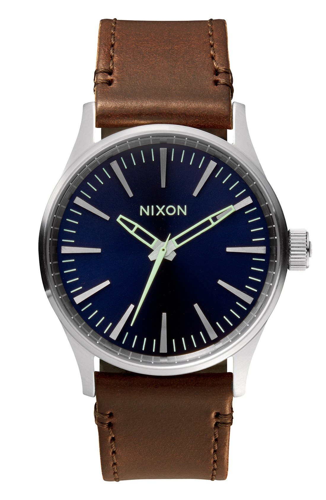 Main Image - Nixon 'The Sentry 38' Leather Strap Watch, 38mm