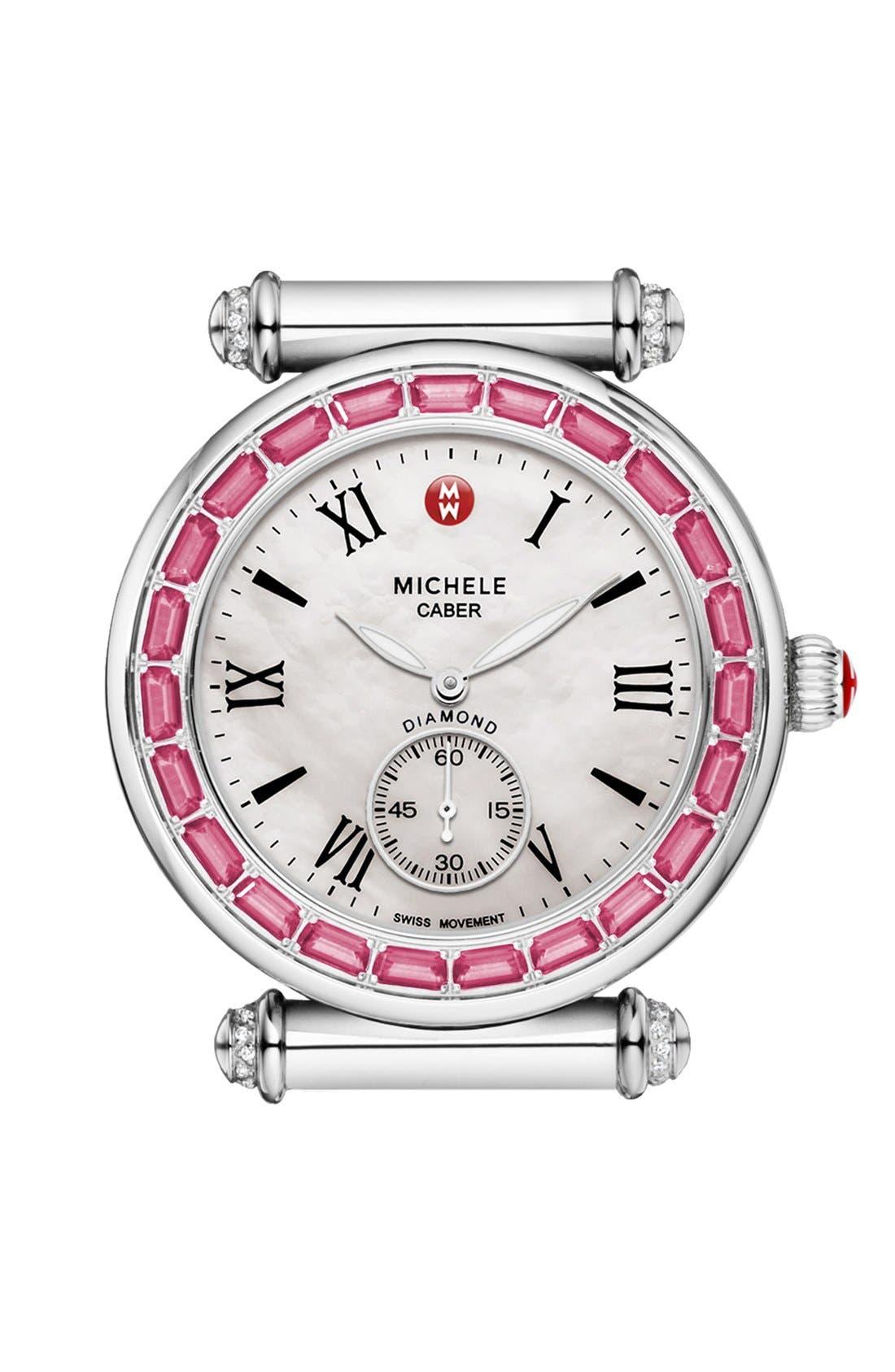 Main Image - MICHELE 'Caber' Diamond Watch Case, 37mm