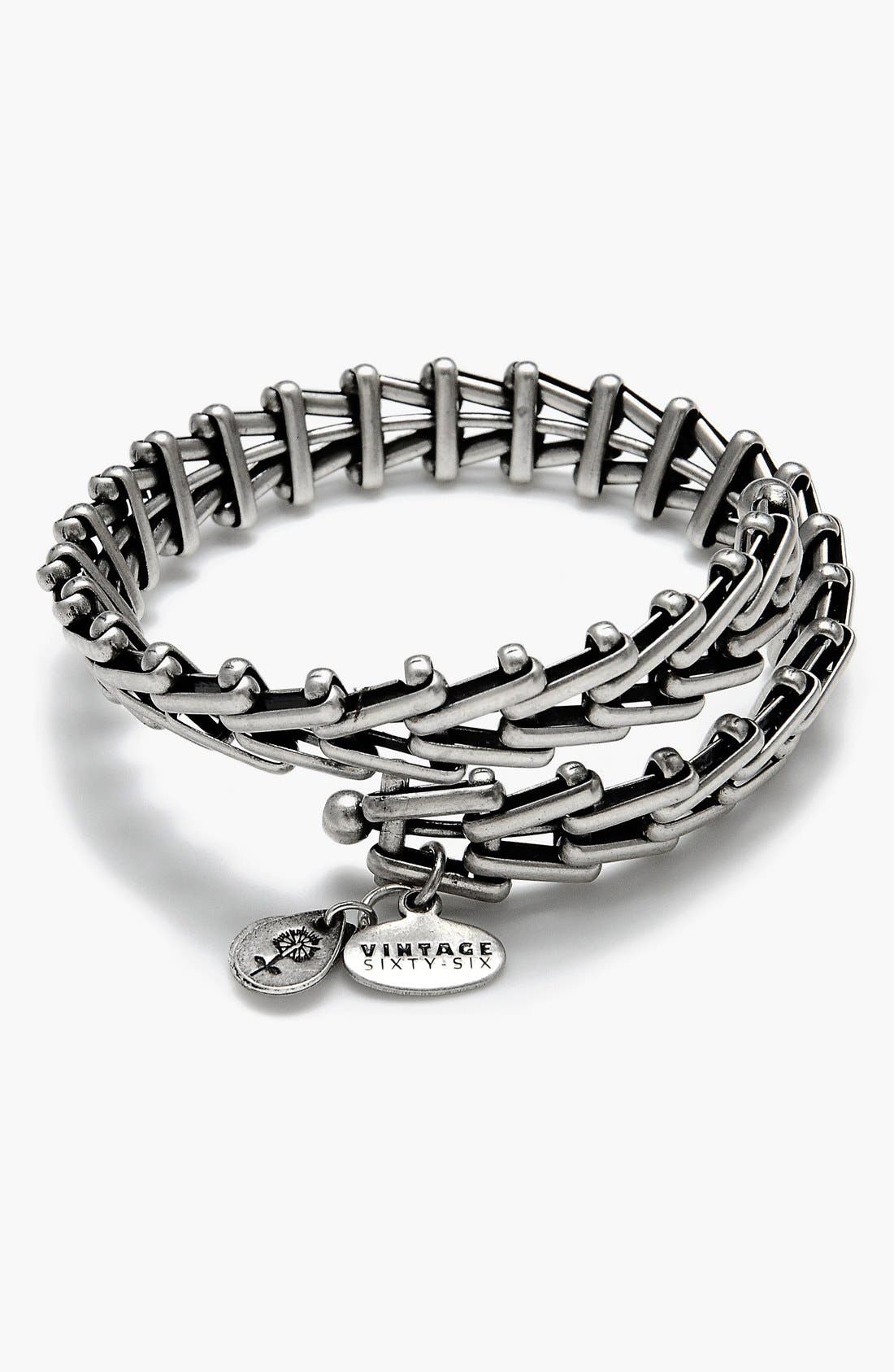 Alex and Ani 'Gypsy 66' Wrap Bracelet,                         Main,                         color, Russian Silver