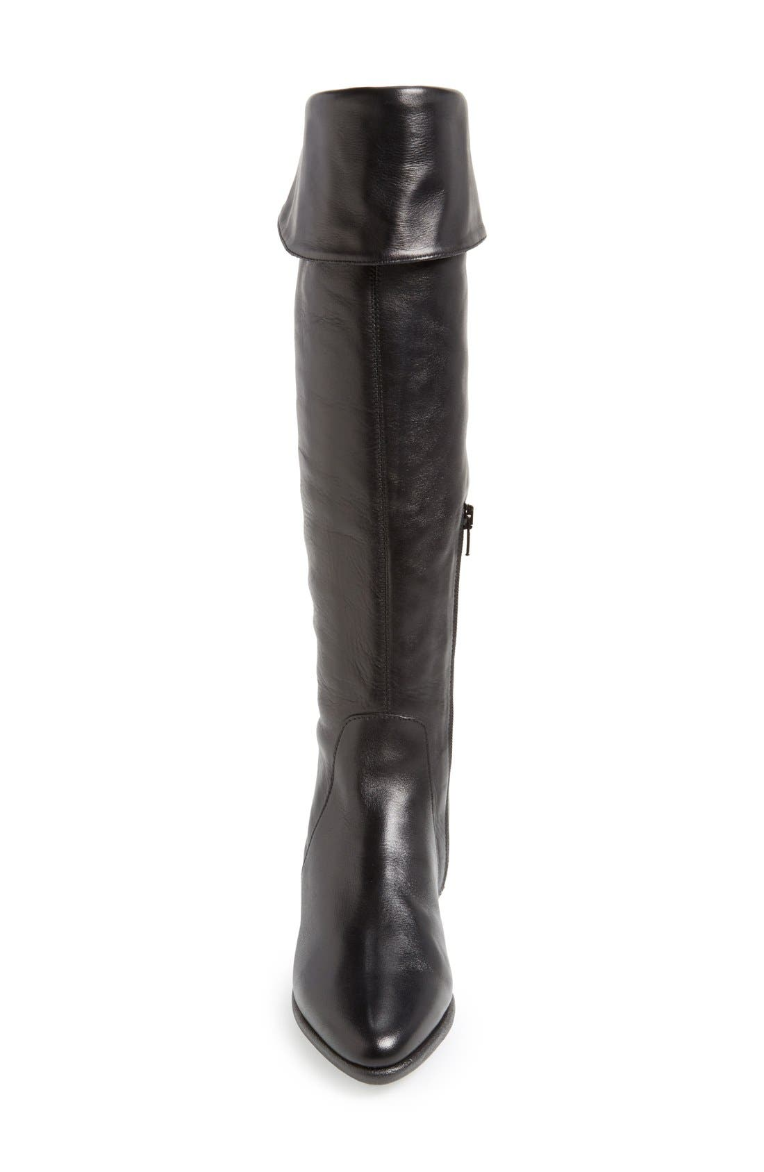'Senator' Over the Knee Leather Boot,                             Alternate thumbnail 3, color,                             Black Cashmere