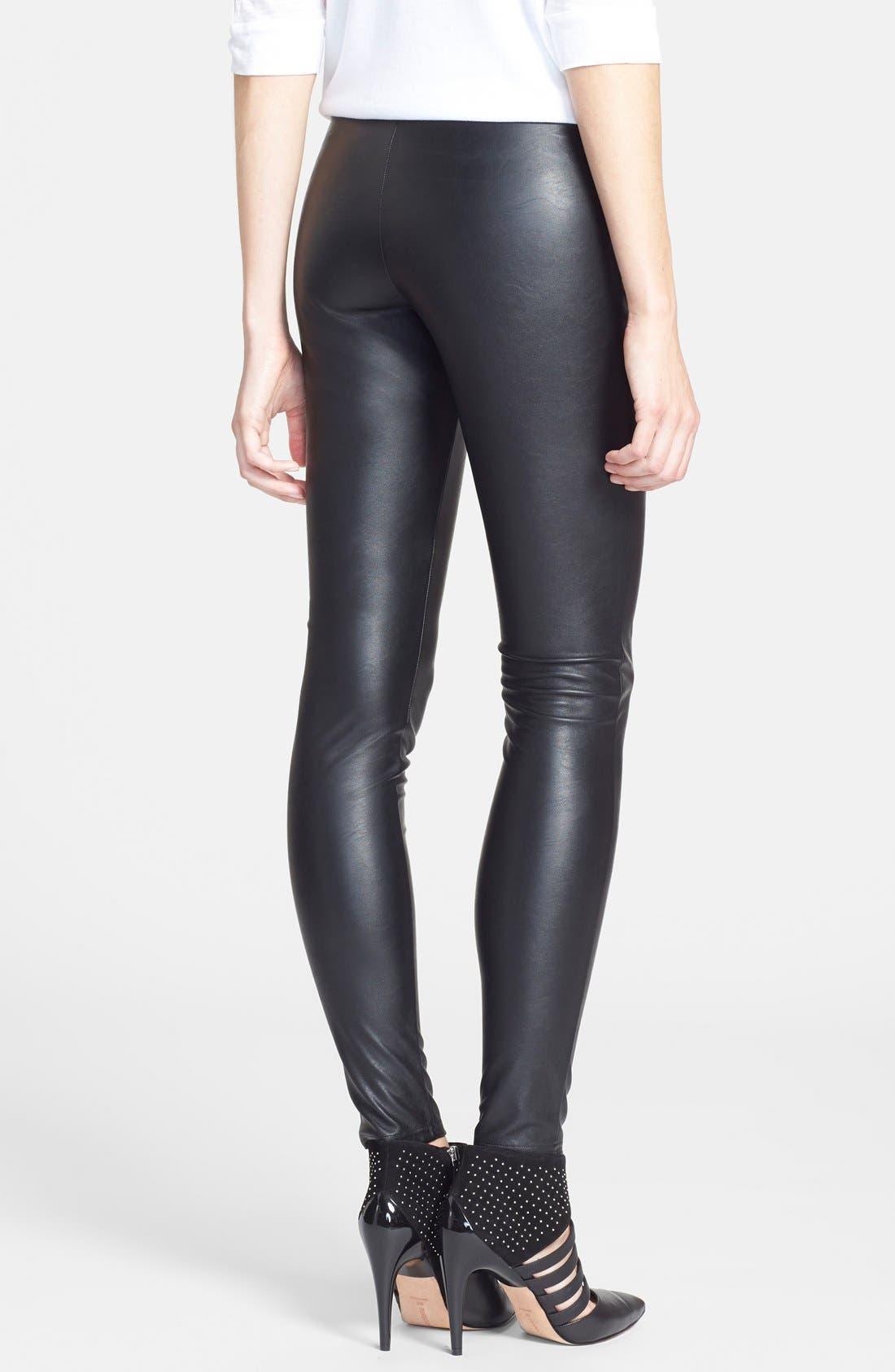Alternate Image 2  - Tildon High Waist Faux Leather Leggings