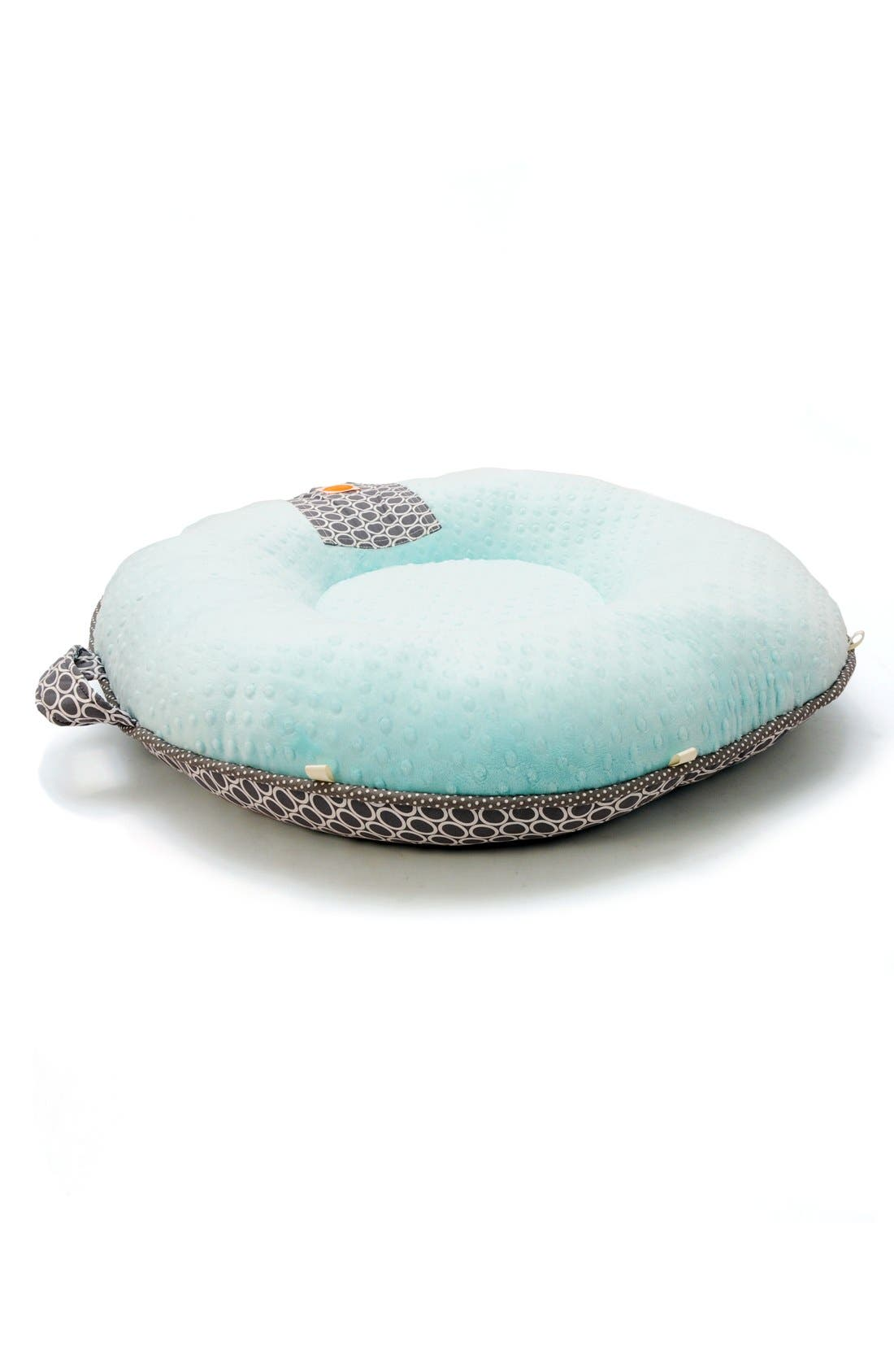 'Majestic' Portable Floor Pillow,                             Alternate thumbnail 2, color,                             Grey/ Aqua
