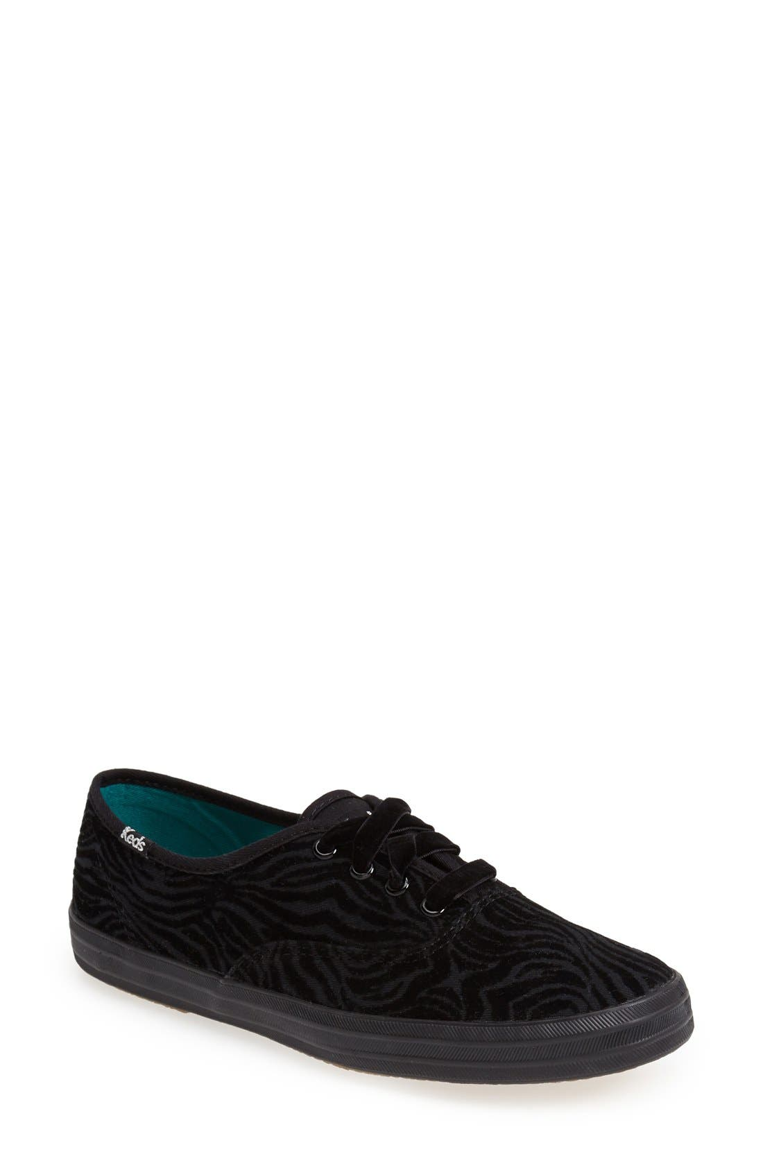 Alternate Image 1 Selected - Keds® 'Champion - Zebra Stripe' Sneaker (Women)
