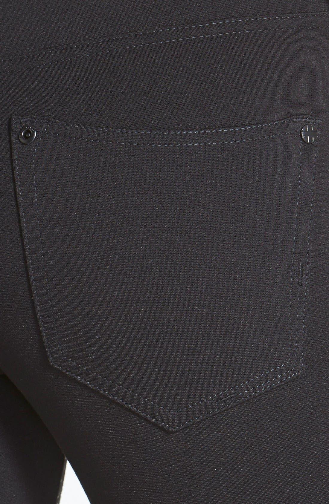 Alternate Image 3  - Liverpool Jeans Company 'Madonna' Gloss Print Stretch Knit Skinny Pants