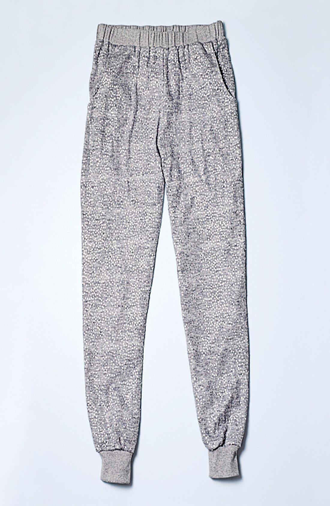 Sequin Track Pants,                             Alternate thumbnail 4, color,                             Grey