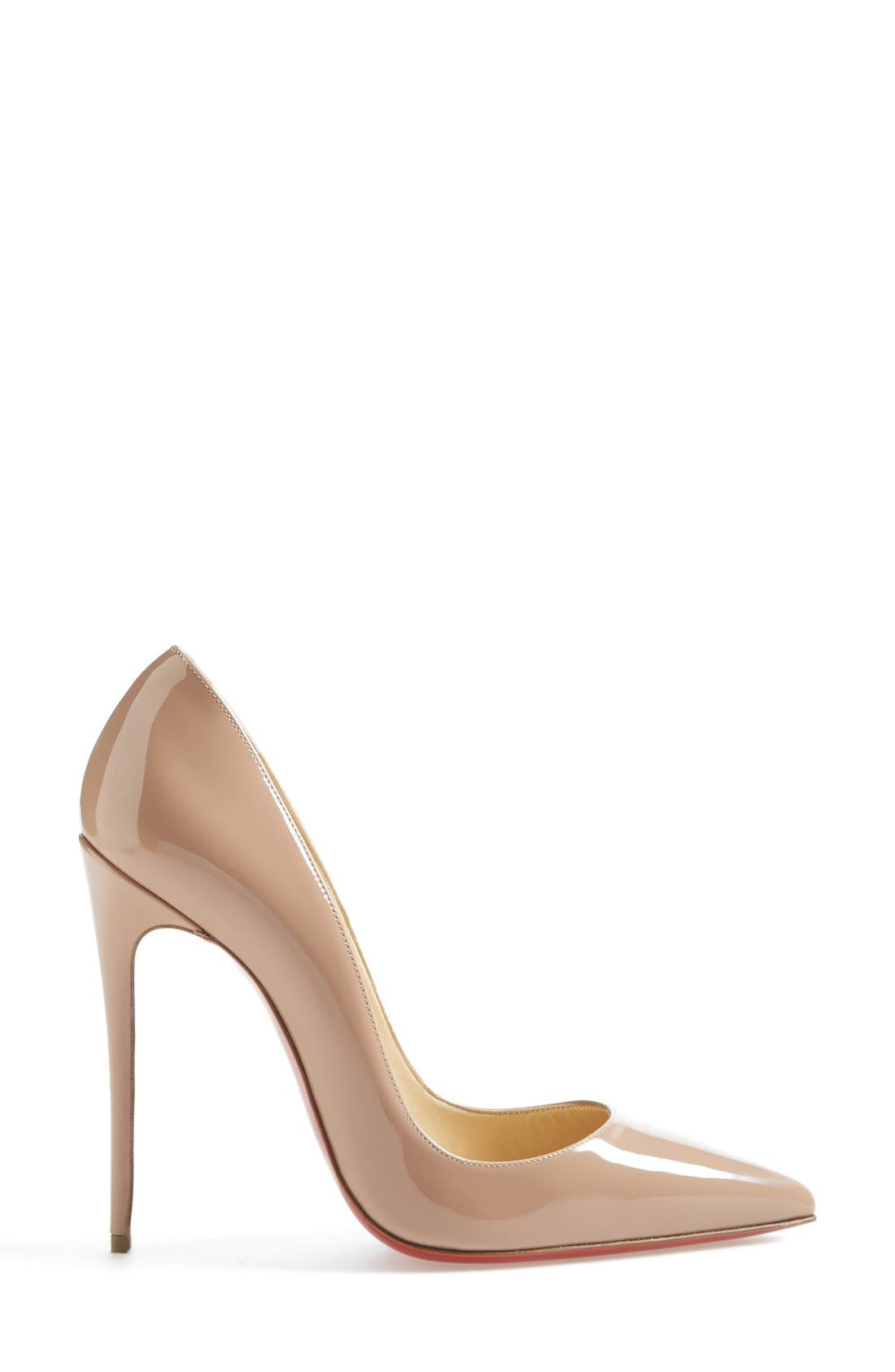 'So Kate' Pointy Toe Pump,                             Alternate thumbnail 4, color,                             Nude