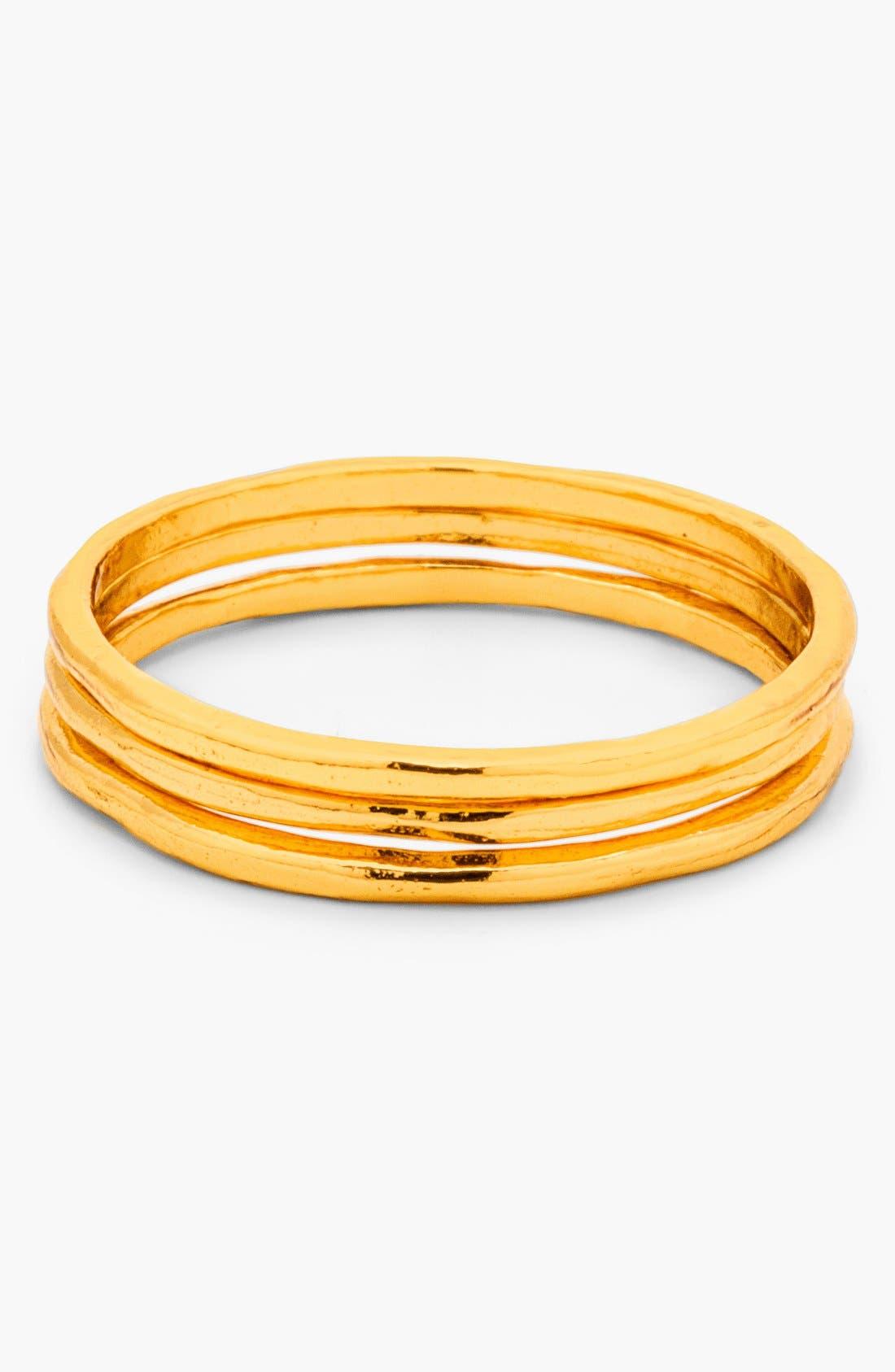 Main Image - gorjana 'G Ring' Midi Rings (Set of 3)