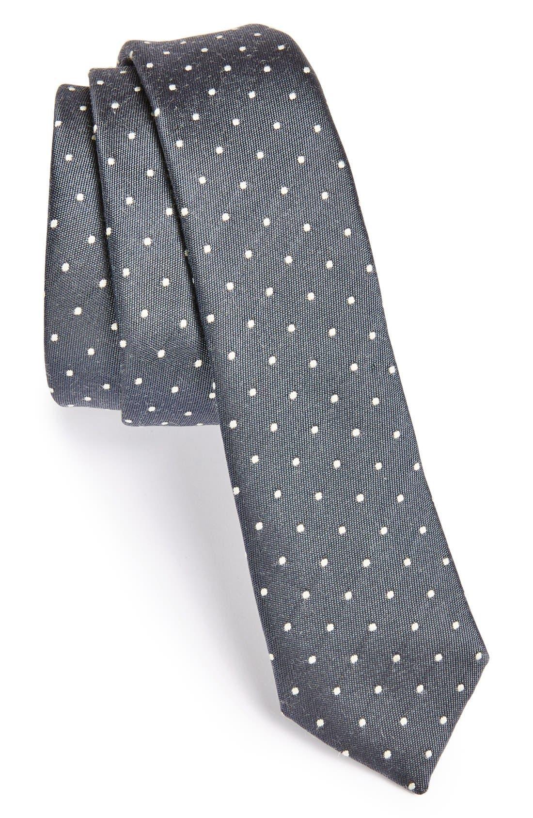Alternate Image 1 Selected - Topman Polka Dot Print Tie