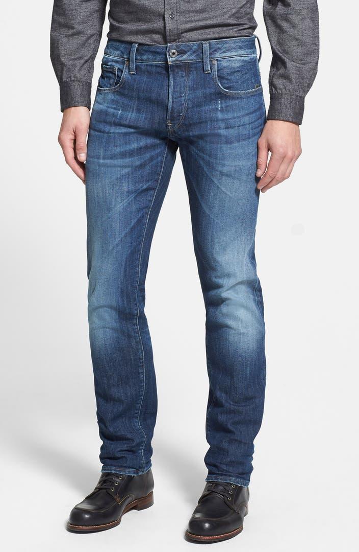 g star raw 39 attacc low 39 straight leg jeans dark aged. Black Bedroom Furniture Sets. Home Design Ideas