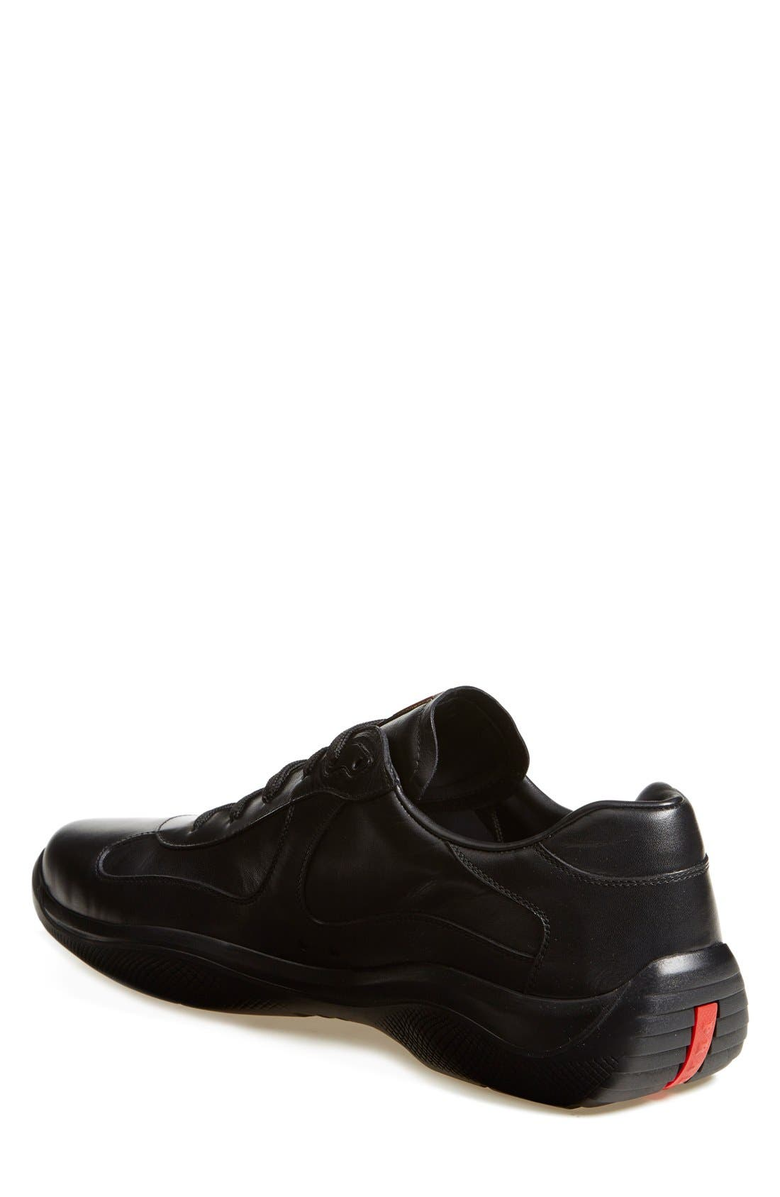 'Punta Ala' Leather Sneaker,                             Alternate thumbnail 2, color,                             Black