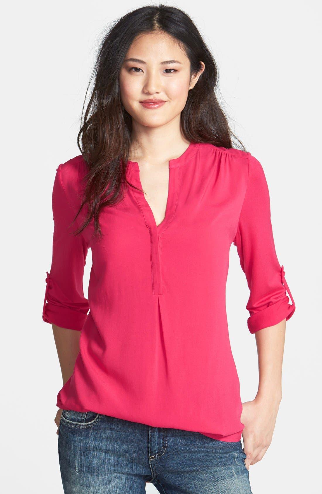 Mixed Media Tunic,                         Main,                         color, Pink Polish