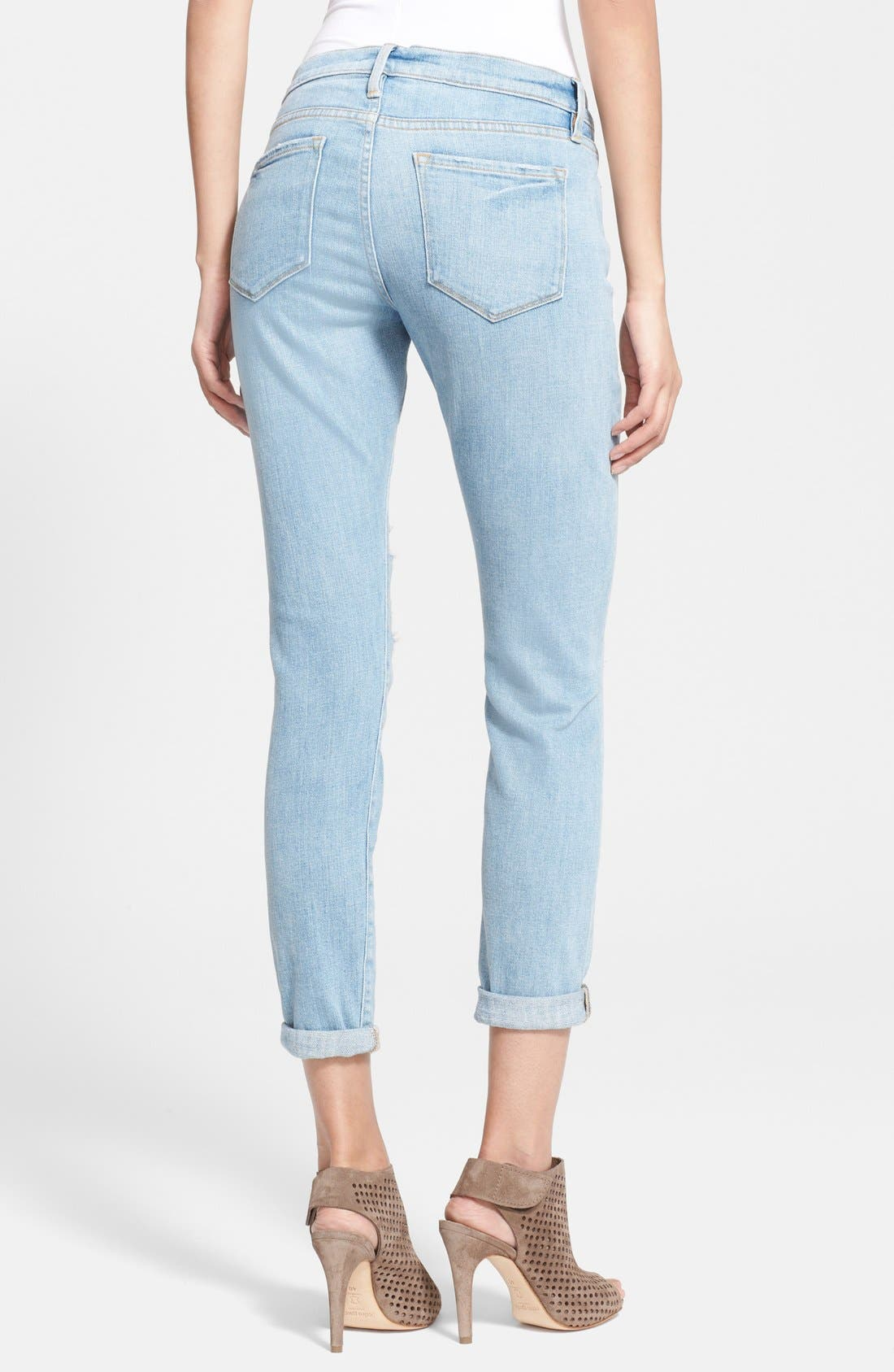 Alternate Image 2  - Frame Denim 'Le Garcon' Boyfriend Jeans (Lucielle)