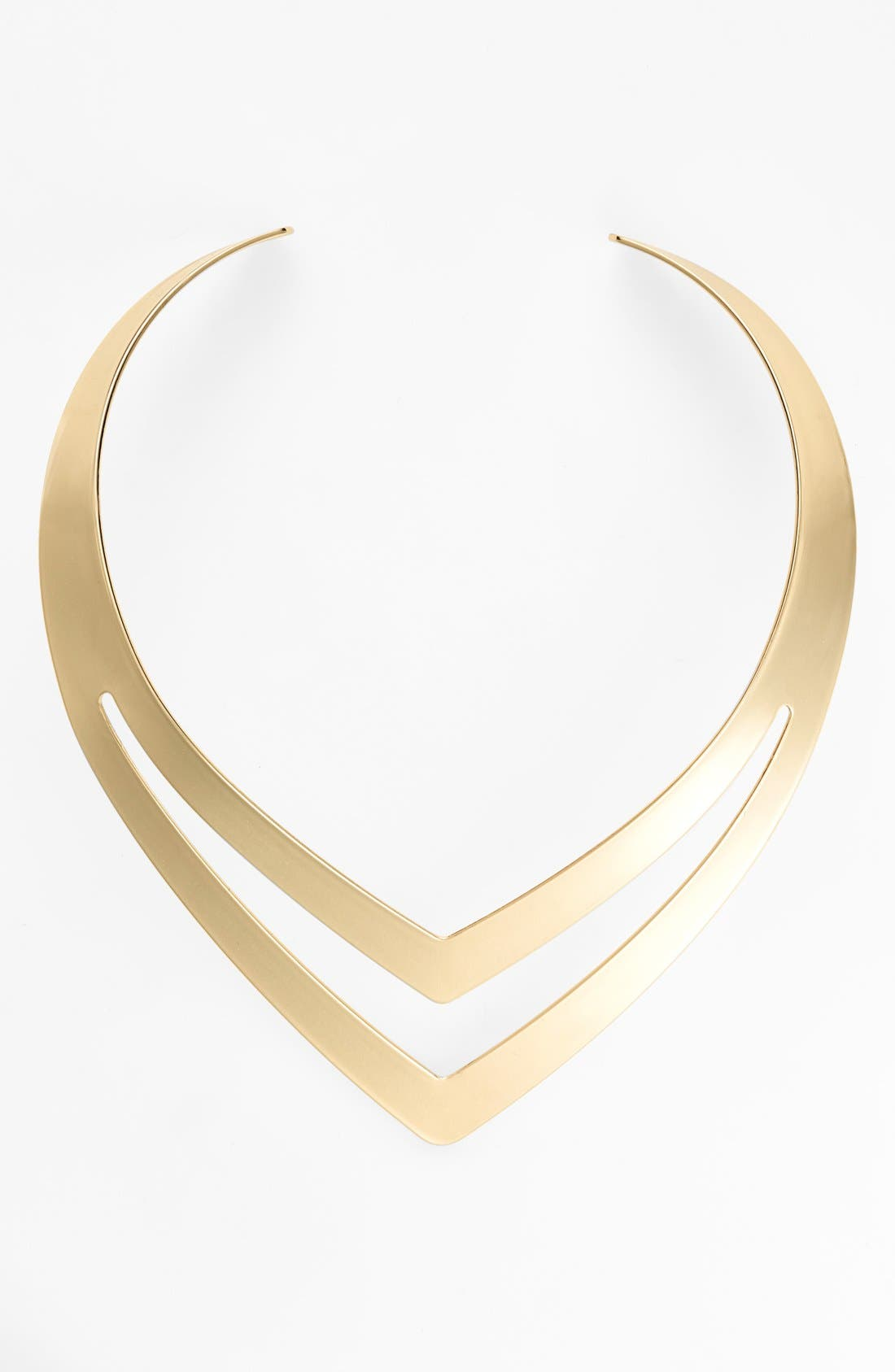 Cutout Choker Necklace,                         Main,                         color, Yellow Gold