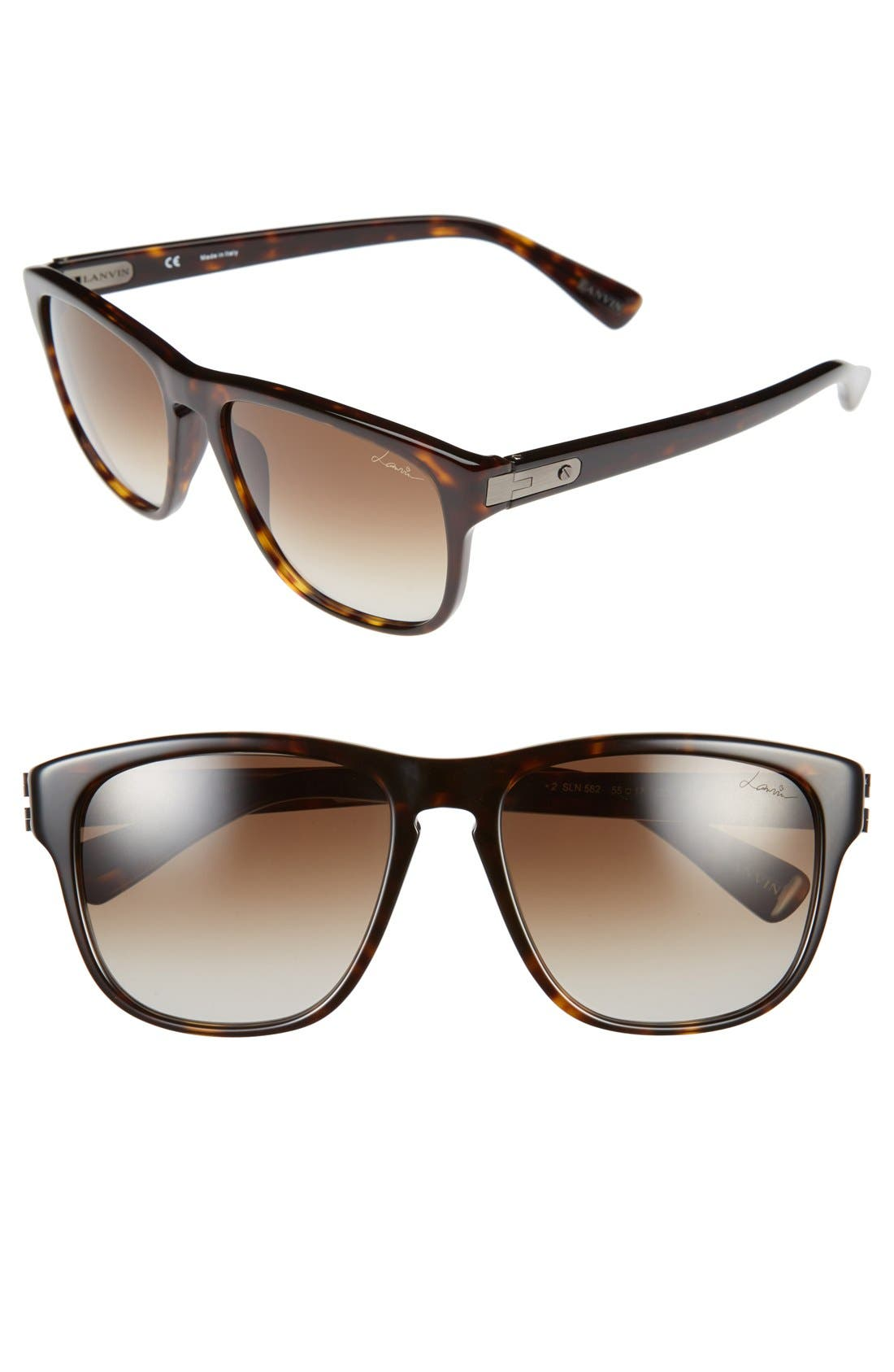 Alternate Image 1 Selected - Lanvin 55mm Retro Sunglasses
