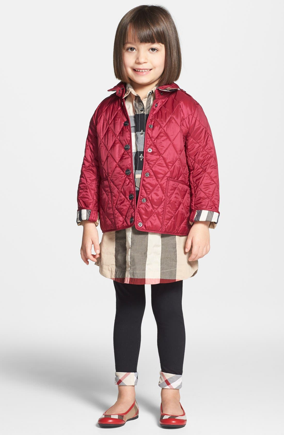 Main Image - Burberry 'Mini Pirmont' Quilted Jacket (Little Girls & Big Girls)