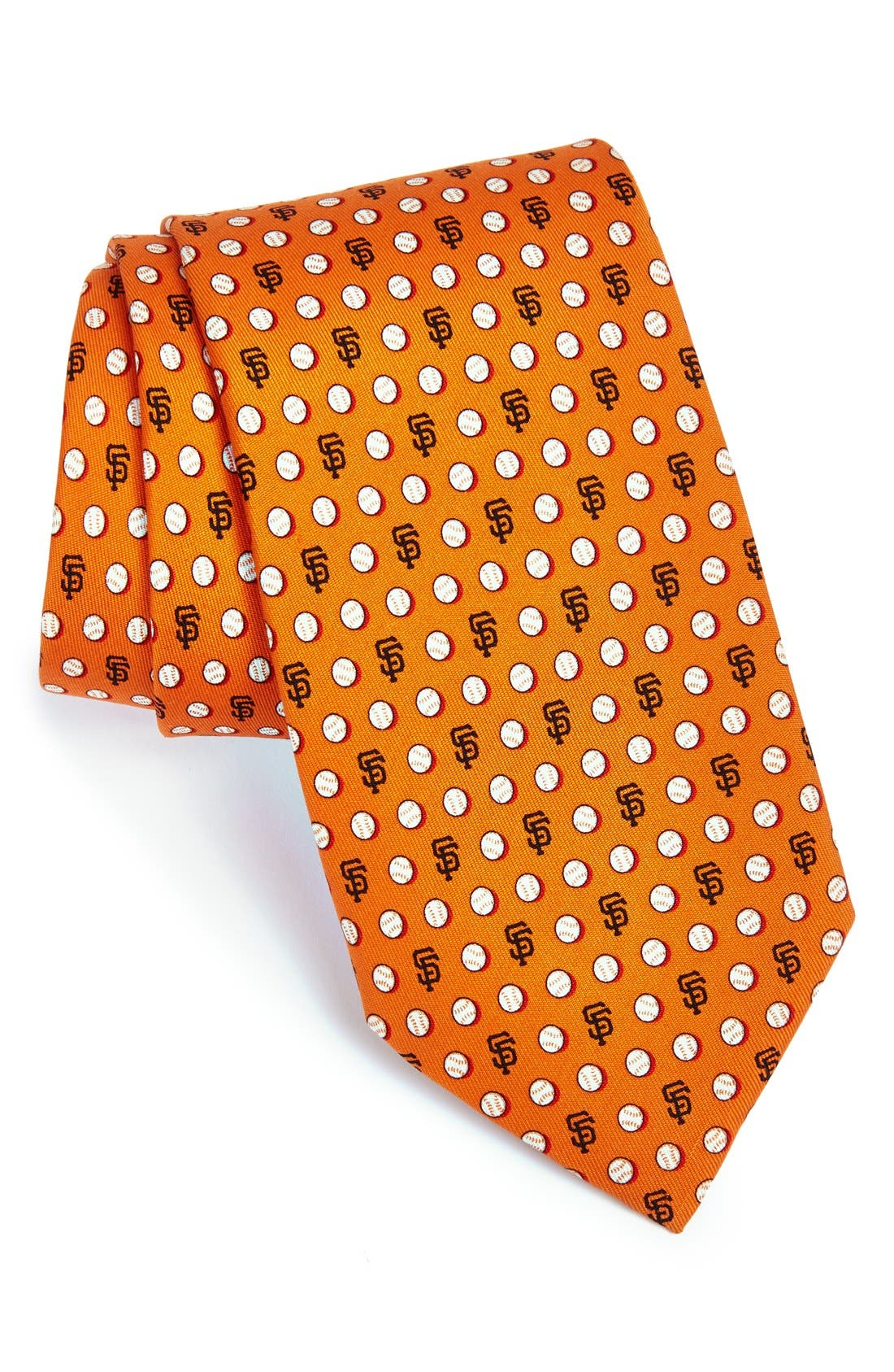 'San Francisco Giants - MLB' Woven Silk Tie,                             Main thumbnail 1, color,                             Orange