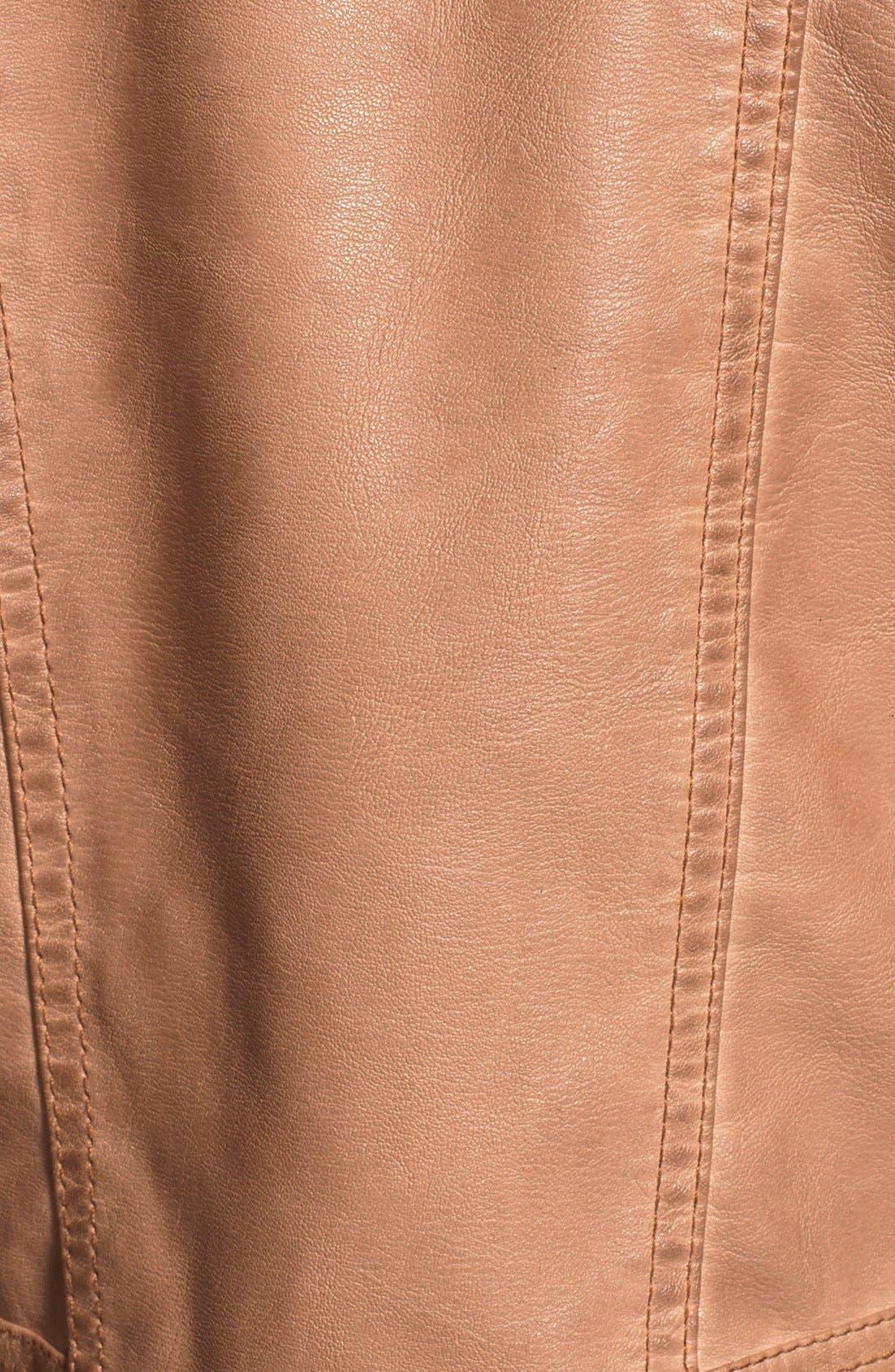 Alternate Image 3  - Jou Jou Quilted Panel Moto Jacket