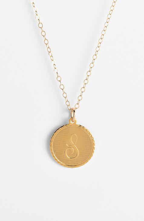 e8f1edac32b Moon and Lola  Dalton  Initial Pendant Necklace