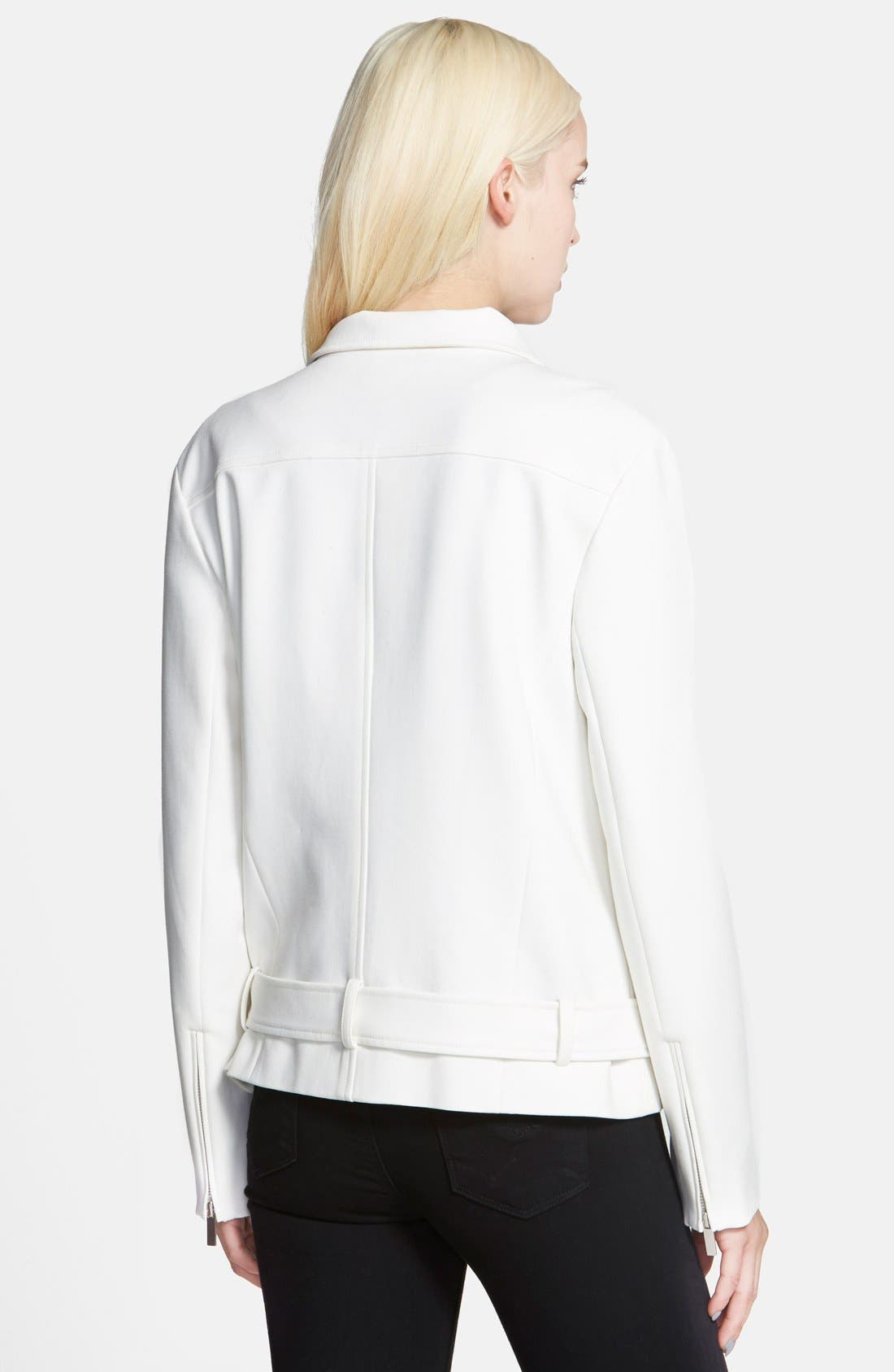 Oversize Moto Jacket,                             Alternate thumbnail 2, color,                             White Snow