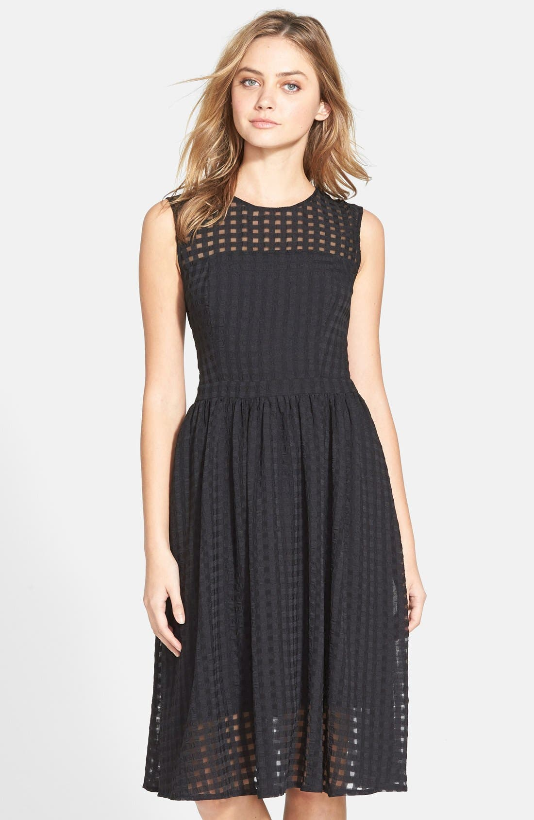 Alternate Image 1 Selected - Donna Morgan Chiffon Fit & Flare Dress