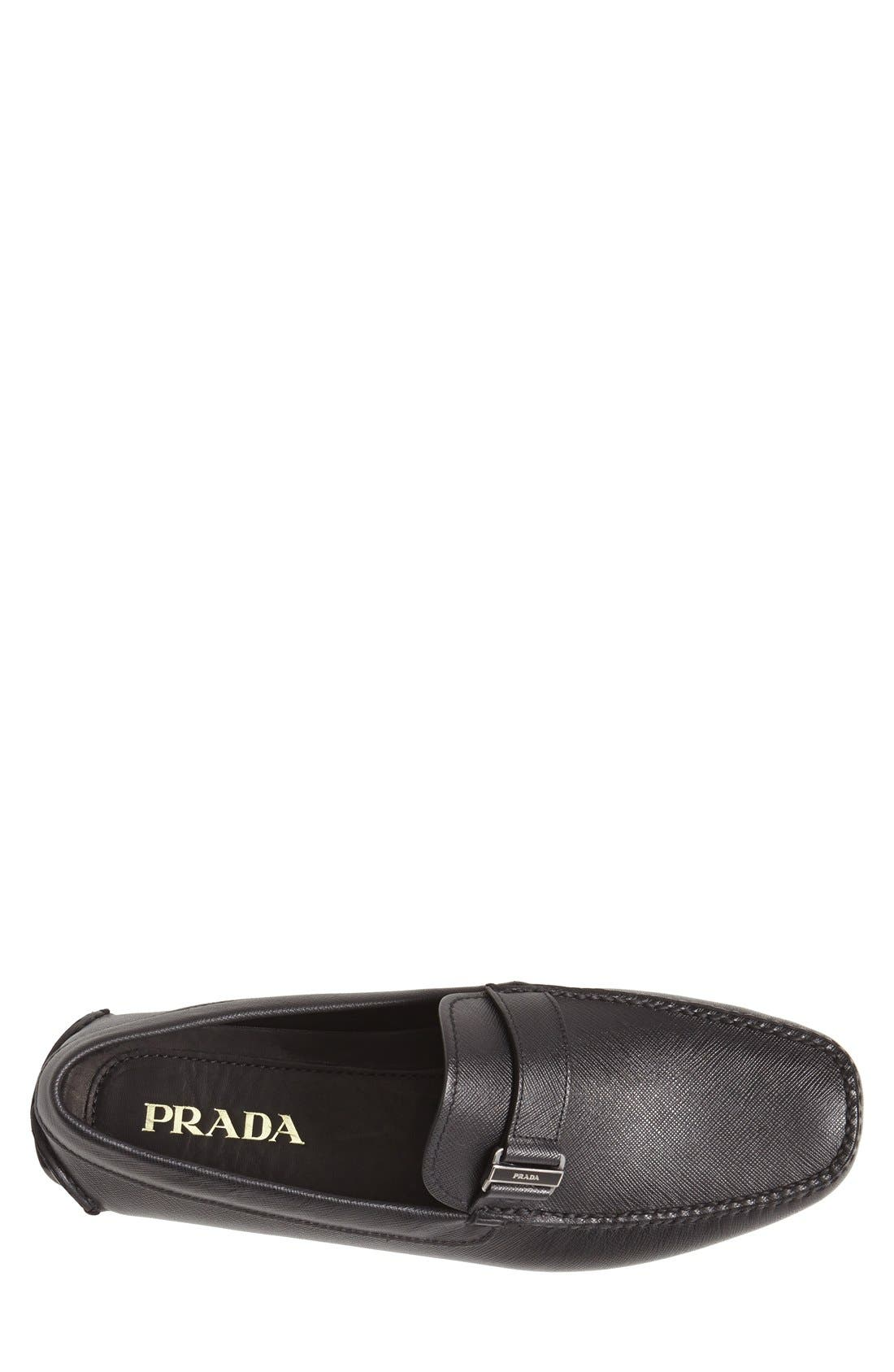 Alternate Image 3  - Prada Saffiano Leather Driving Shoe (Men)