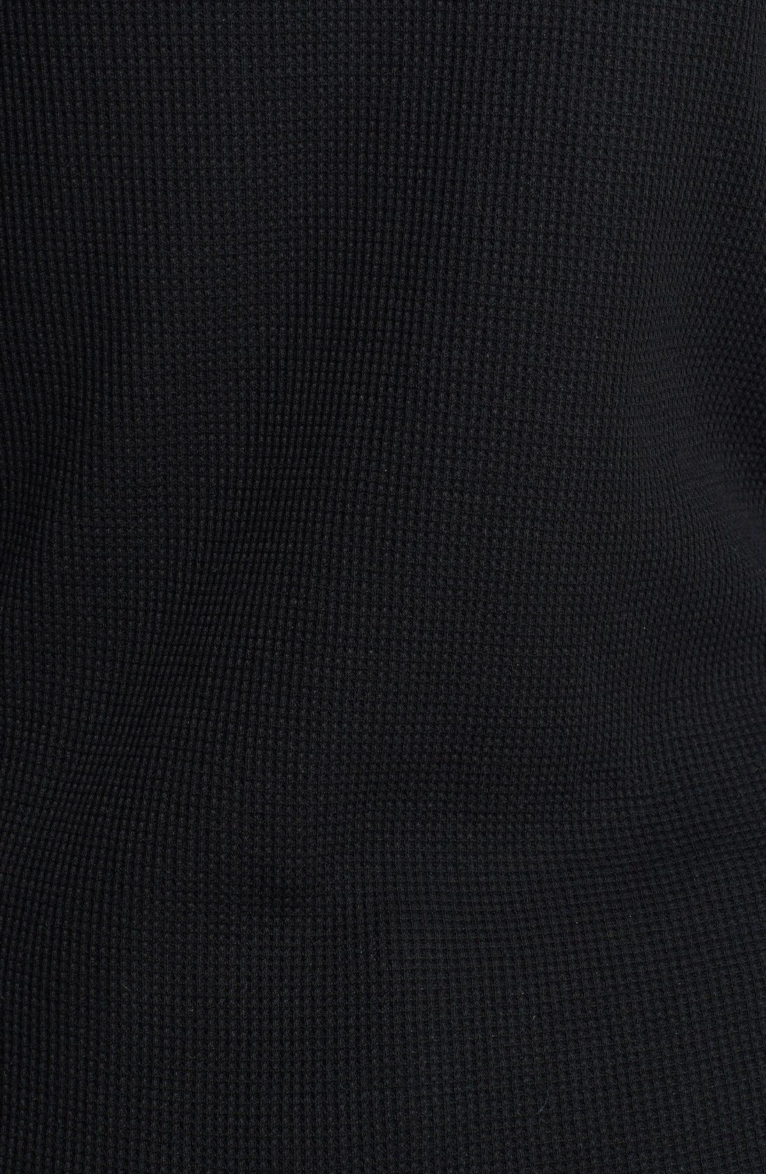 Classic Henley Thermal,                         Main,                         color, Black