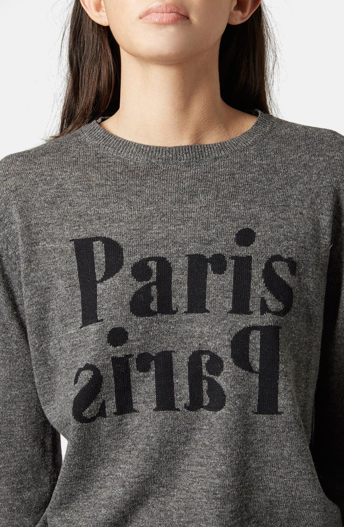 Alternate Image 4  - Topshop 'Paris, Paris' Crewneck Sweater