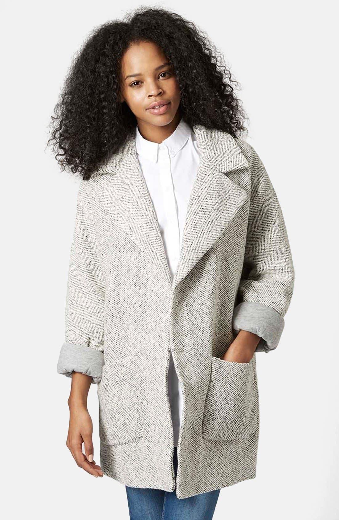 Main Image - Topshop Oversized Long Jacket