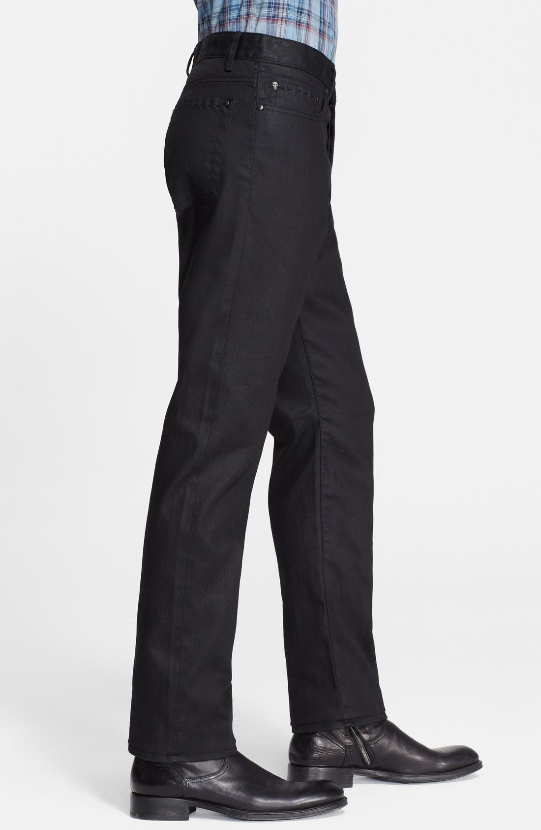 Alternate Image 3  - John Varvatos Collection Slim Fit Jeans (Ink)