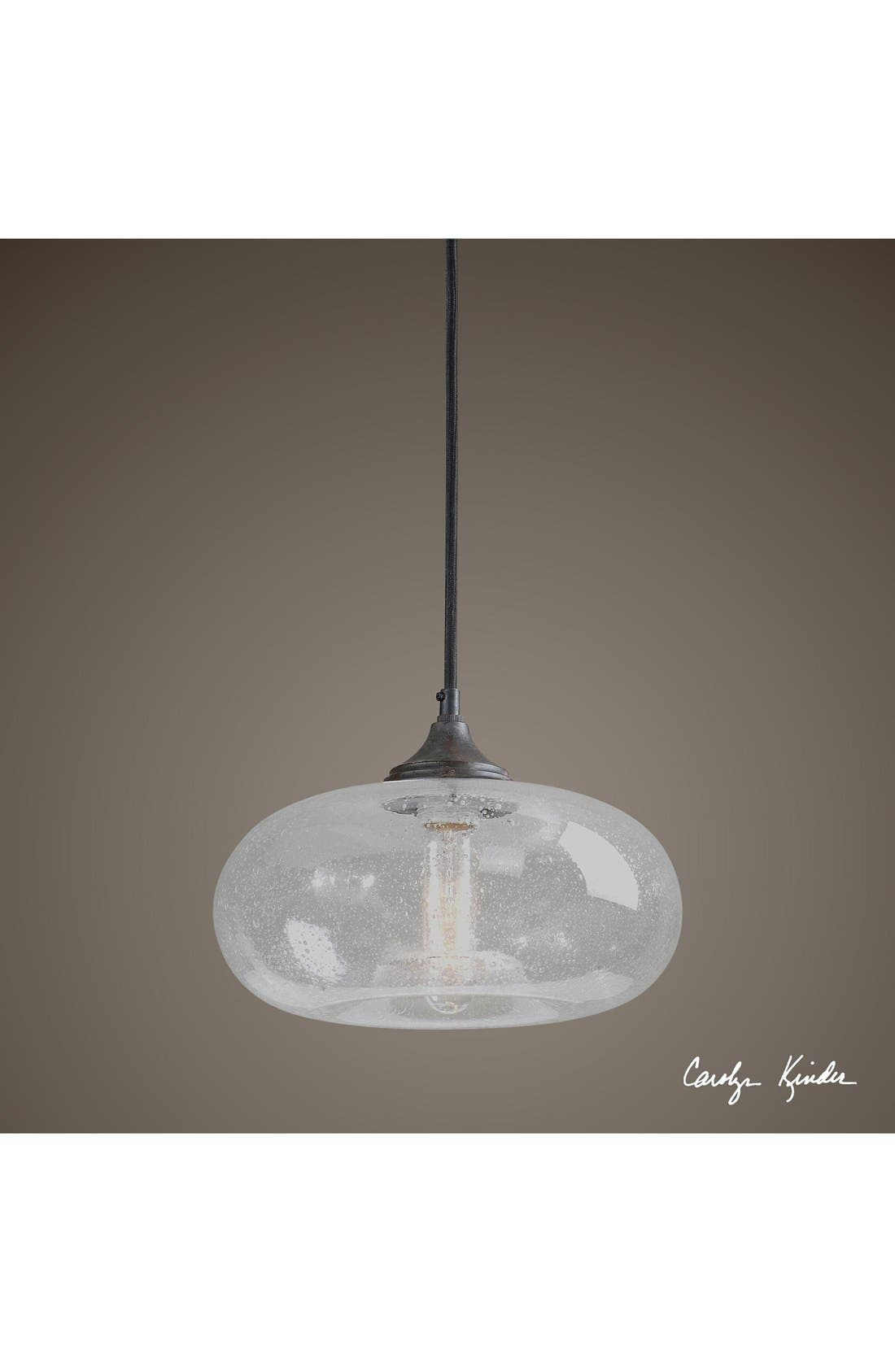 Alternate Image 2  - Uttermost 'Torus' Seeded Glass Mini Pendant Light