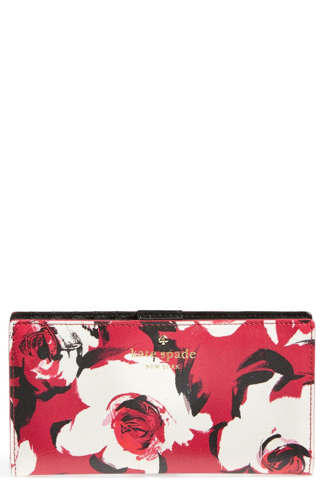 Alternate Image 1 Selected - kate spade new york 'cedar street rose - stacy' wallet