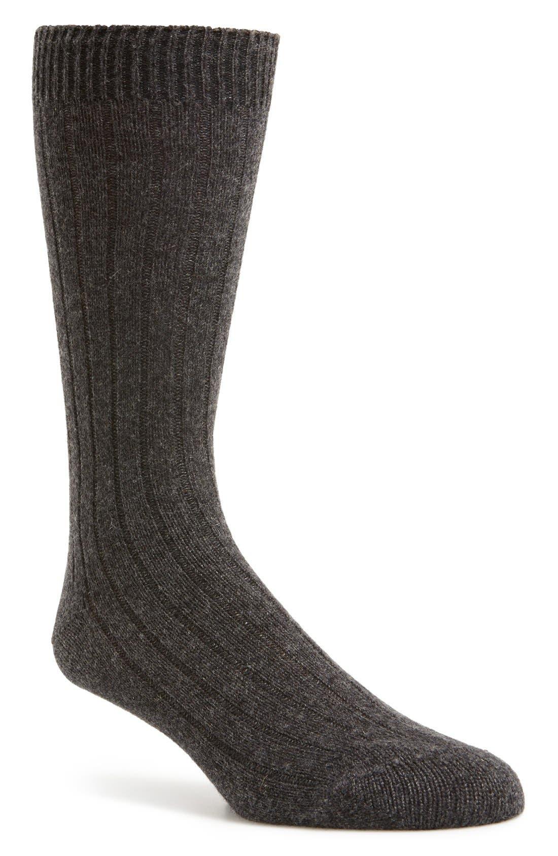 Alternate Image 1 Selected - Pantherella 'Waddington' Cashmere Blend Mid Calf Socks