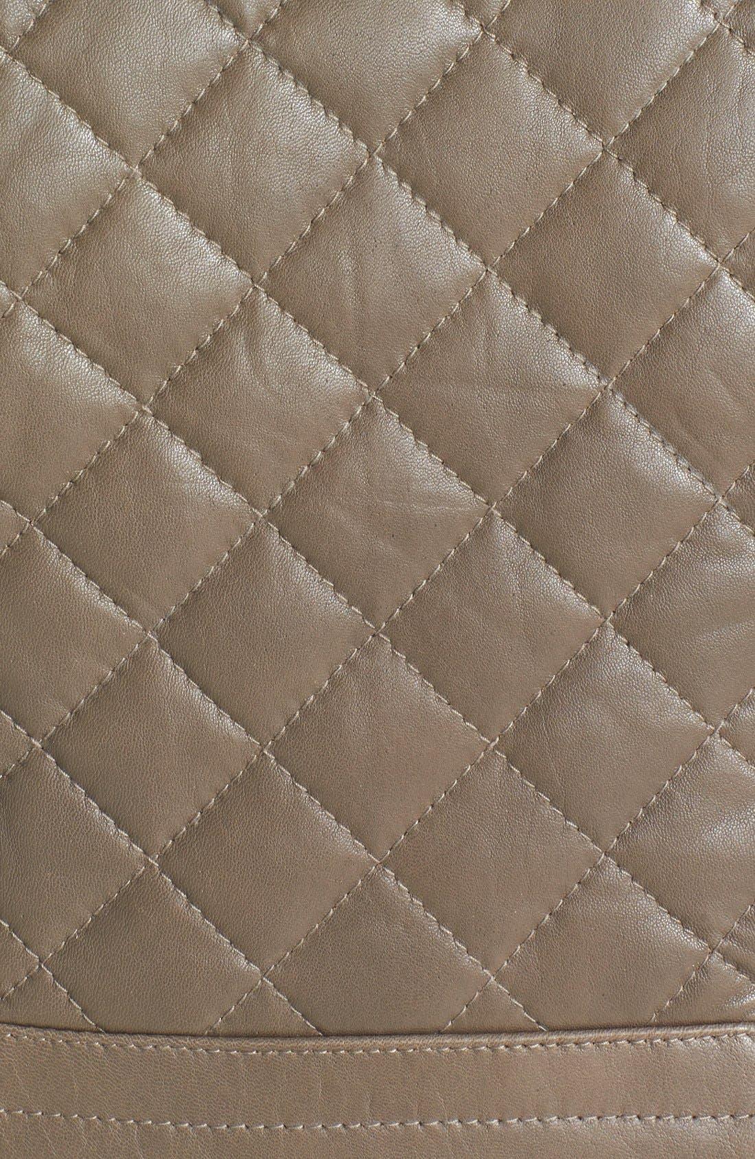 Alternate Image 3  - Via Spiga Quilted Lambskin Leather Jacket