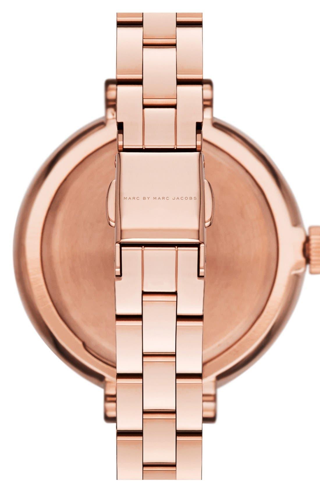 Alternate Image 2  - MARC JACOBS 'Sally' Round Bracelet Watch, 36mm